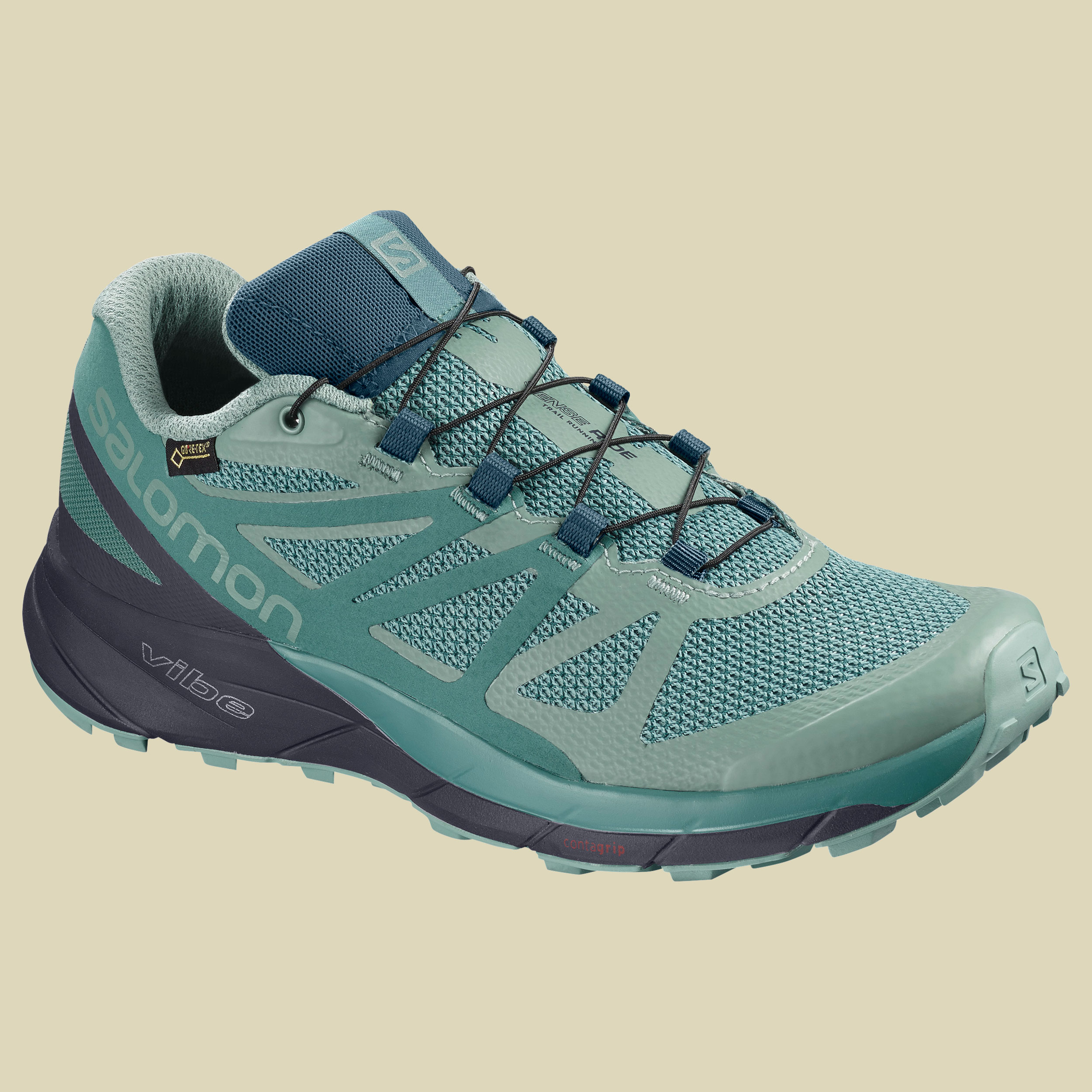 Salomon Sense Ride GTX Invisible Fit Women Damen Laufschuh Größe UK 5,5 trellis/graphite
