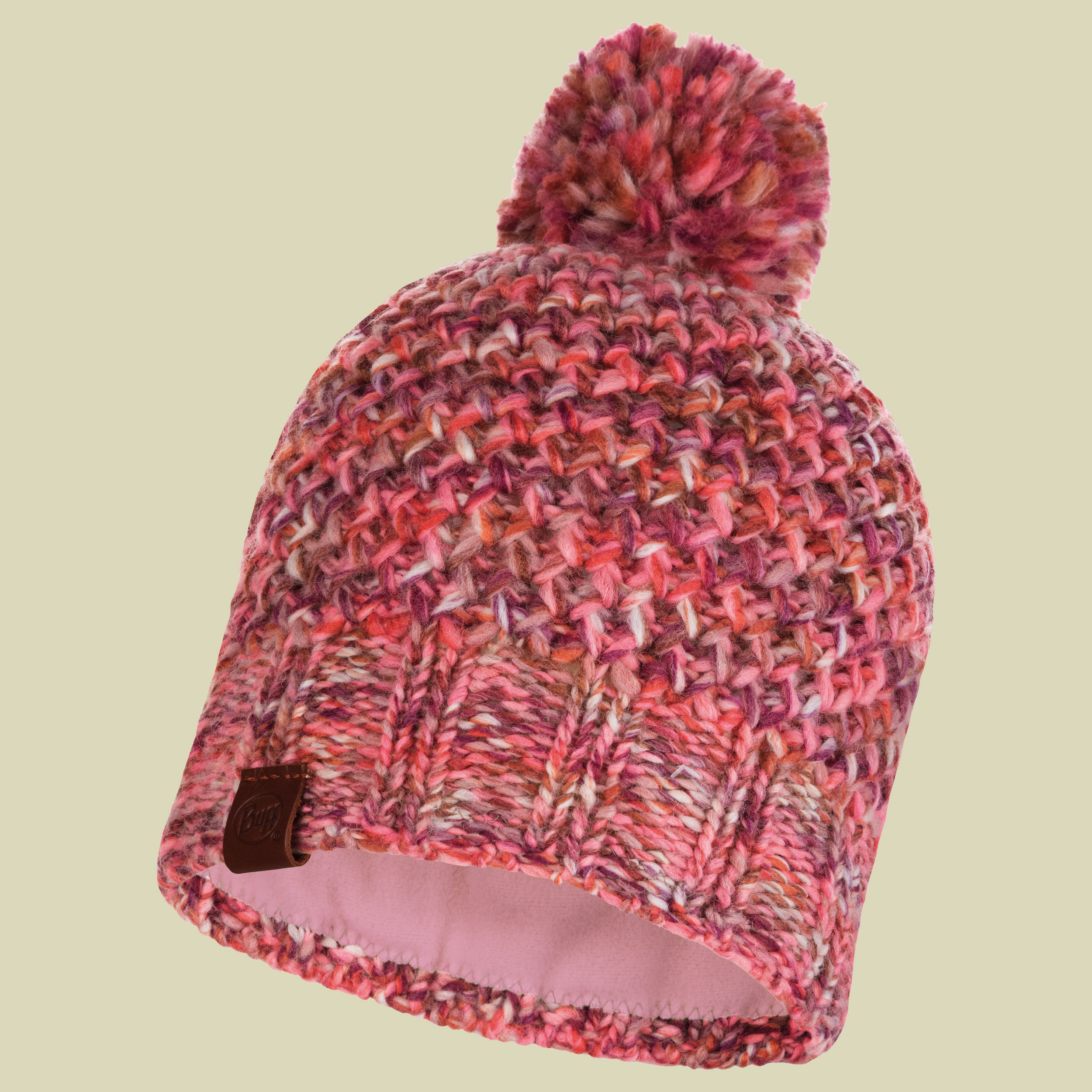 Buff Knitted   Polar Fleece Hat Margo warme Wollmütze one size flamingo pink 8872fc23431f