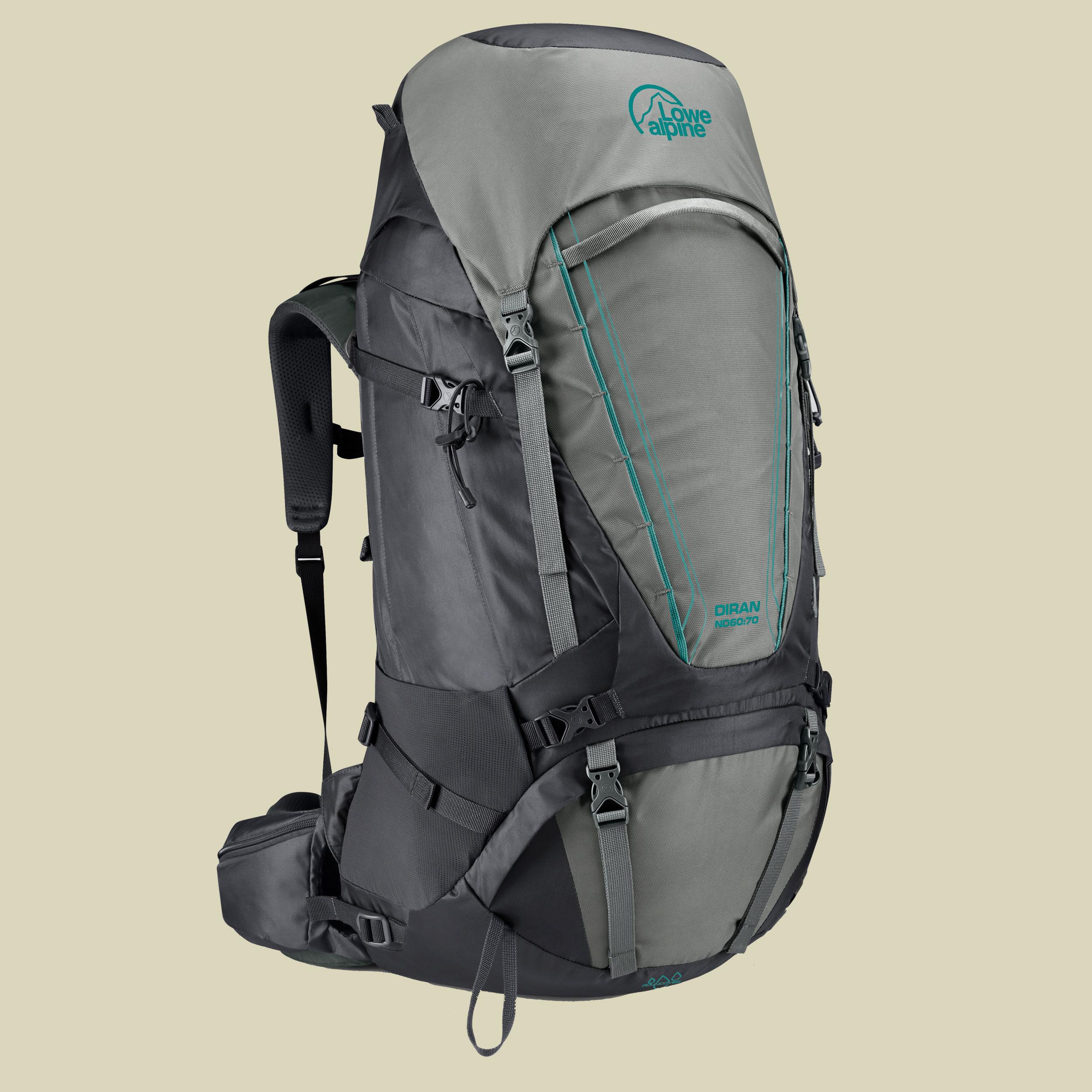 Lowe Alpine Diran ND 50:60 Women Damen Trekkingrucksack Volumen 50 L + 10 l greystone/iron grey