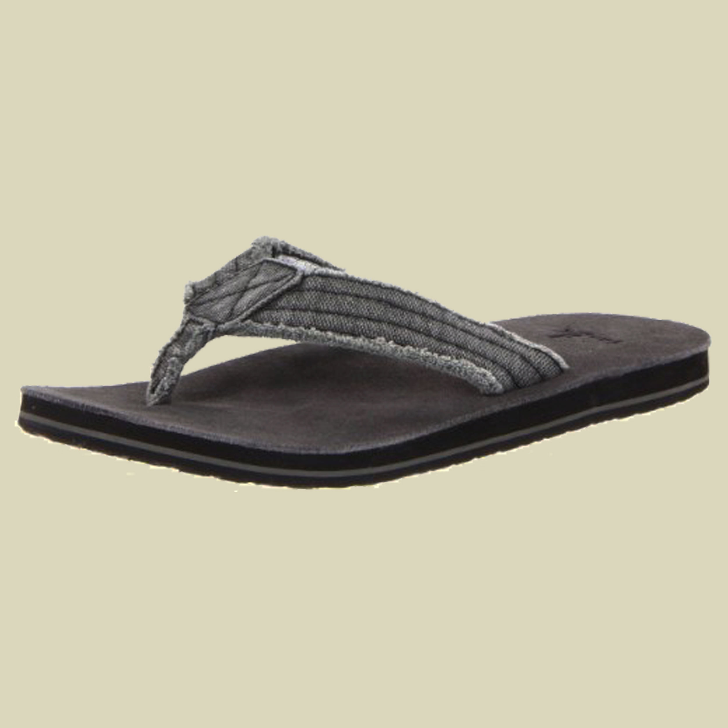 Sanuk Fraid Not Sandals Men Herren Zehentrenner Größe UK 7 charcoal