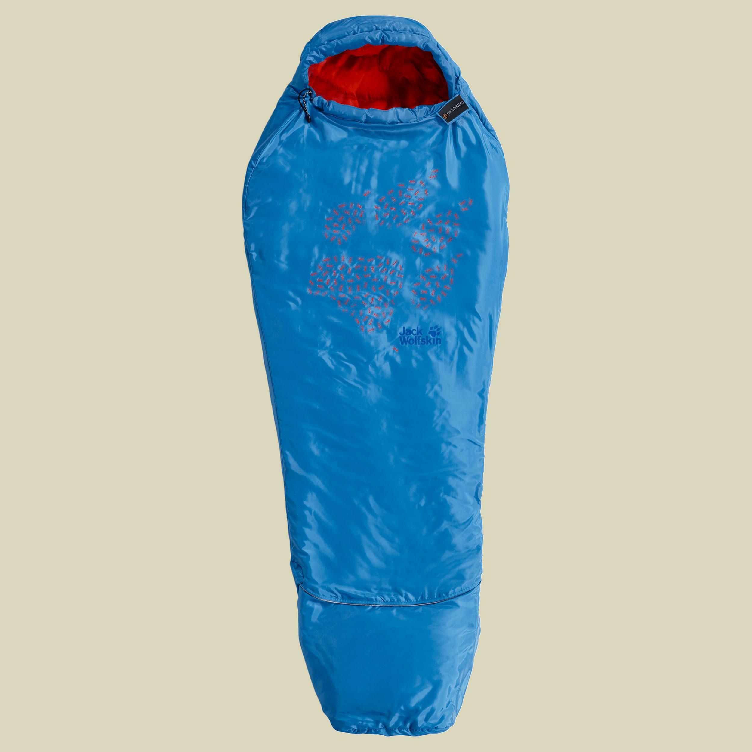Jack Wolfskin Grow Up Kids Kinderschlafsack bis Körpergröße 140 cm brilliant blue