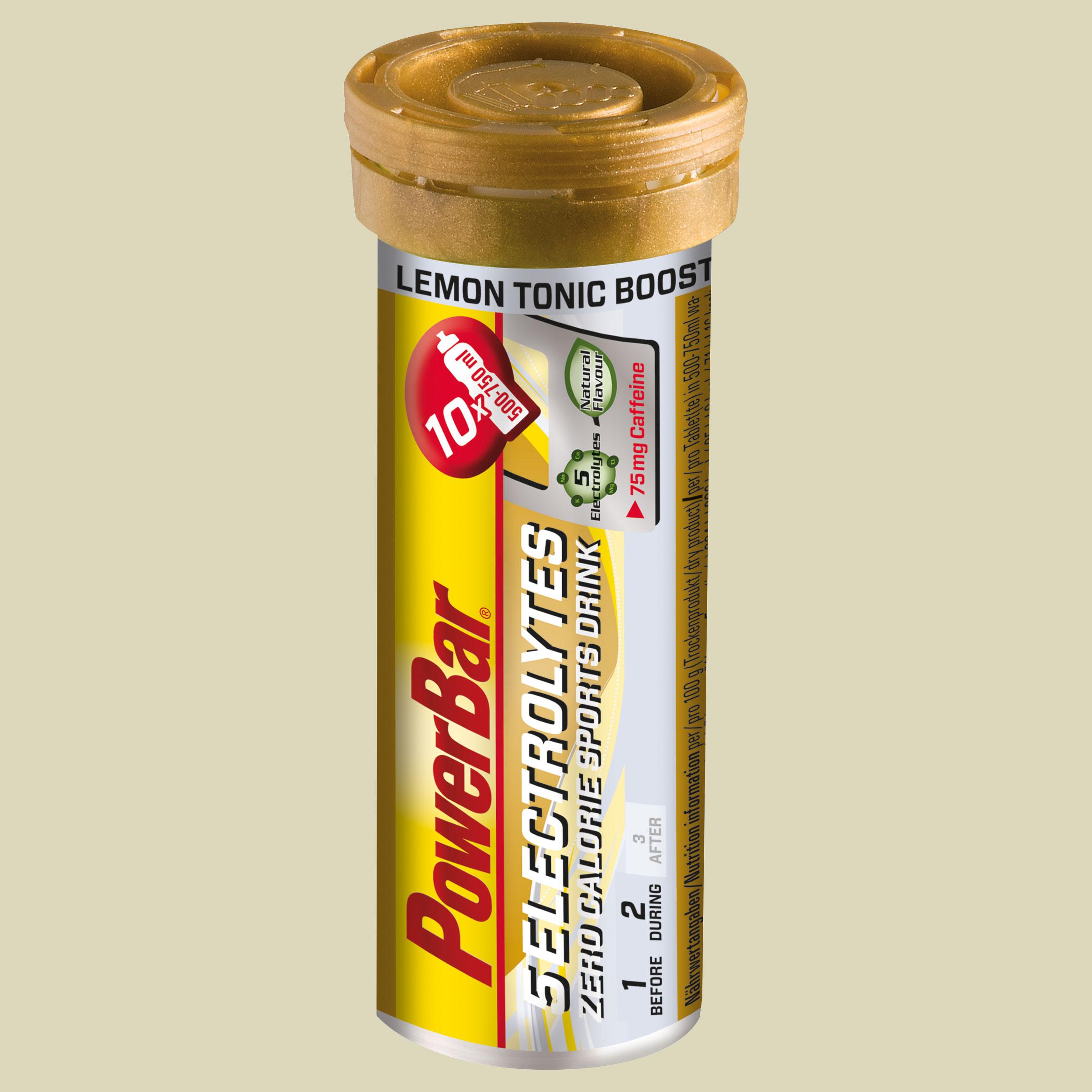 Powerbar 5 Electrolytes Brausetablette Geschmack lemon tonic
