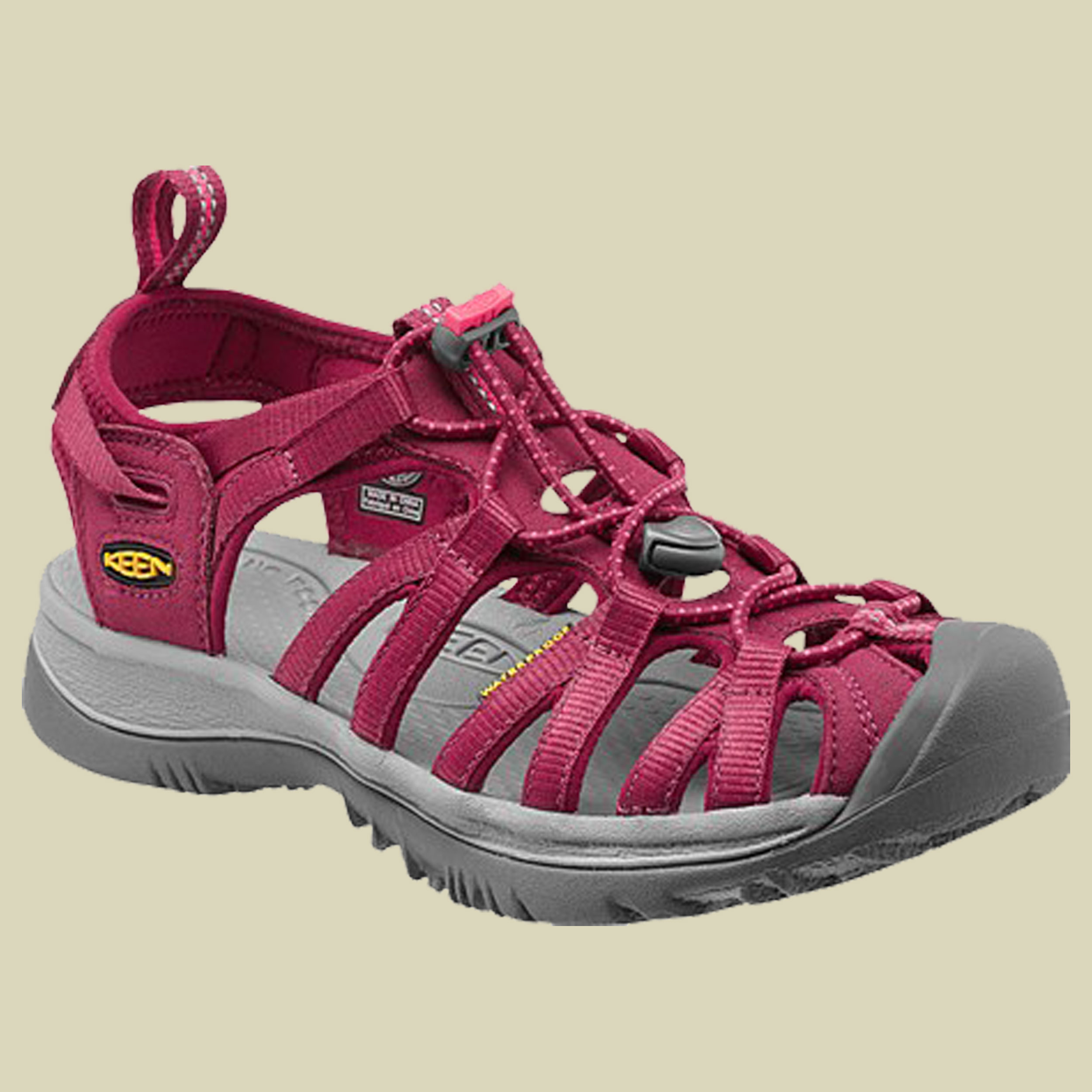 Keen Whisper Women Trekking Sandale Damen Größe UK 4,5 beet red-honeysuckle 834935ba34