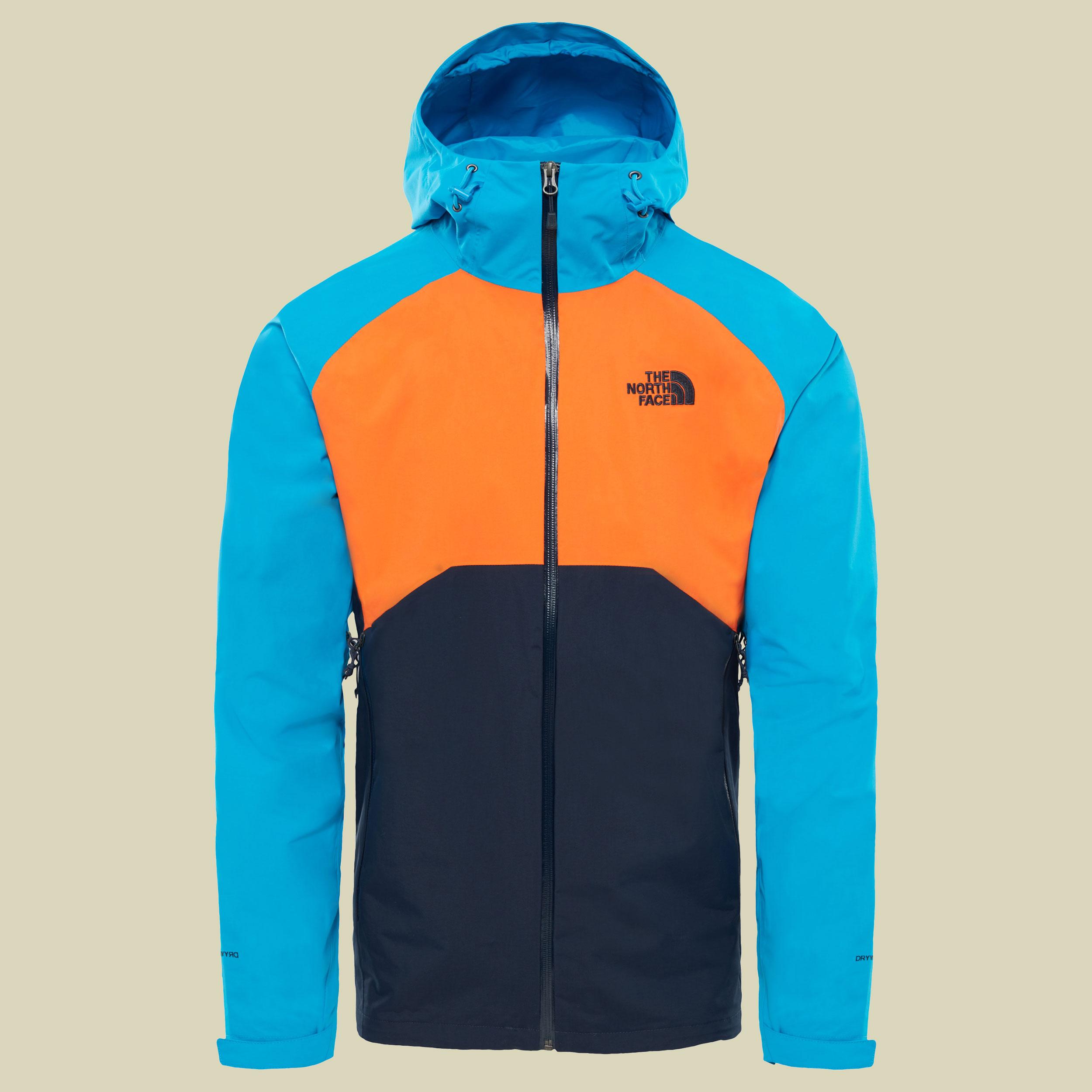 The North Face Stratos Jacket Men Herren Hardshelljacke Größe S urban navy/persian orange/hyper blue