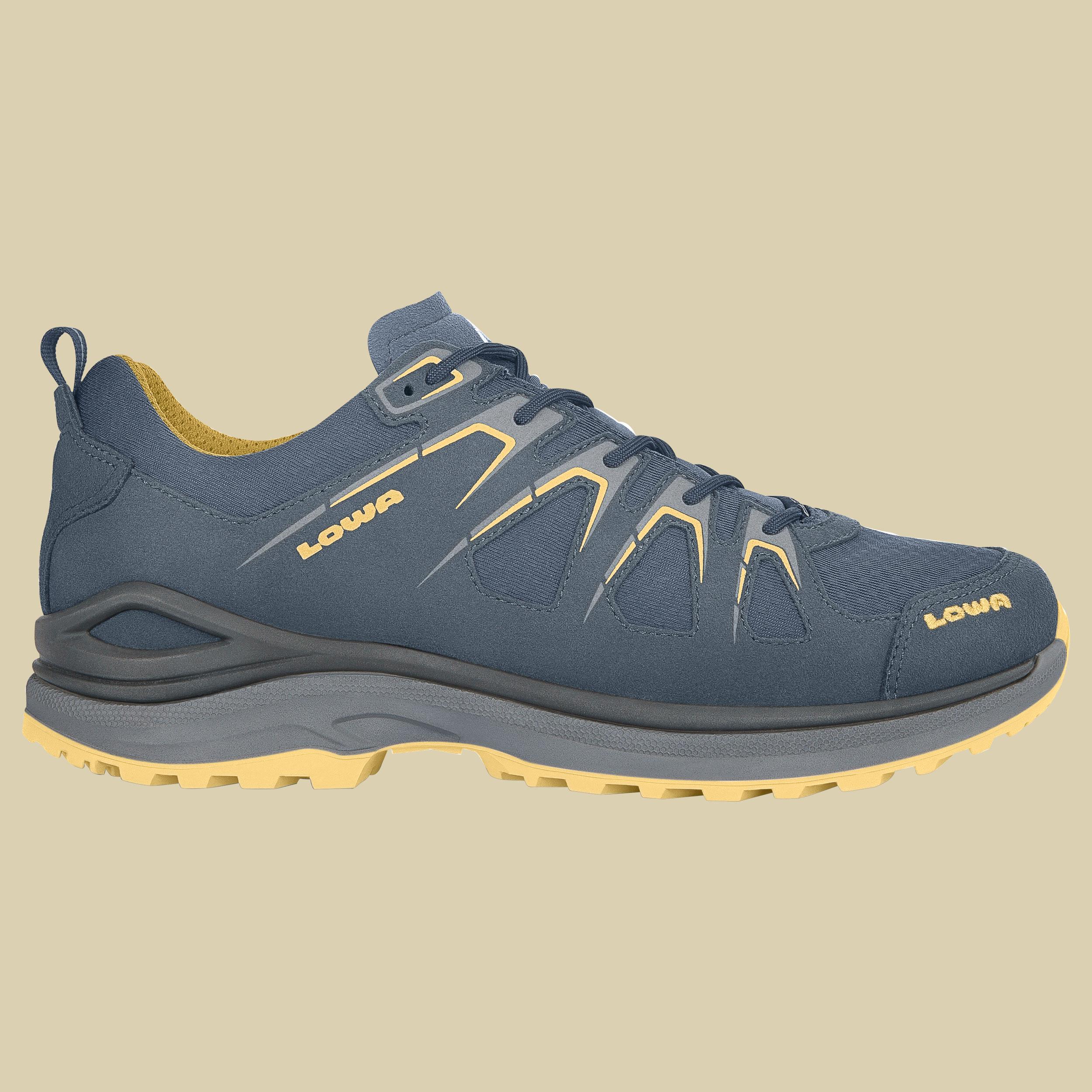 Lowa Innox Evo GTX Low Men Outdoor Fitness Schuh  Größe UK 7,5 stahlblau/senf