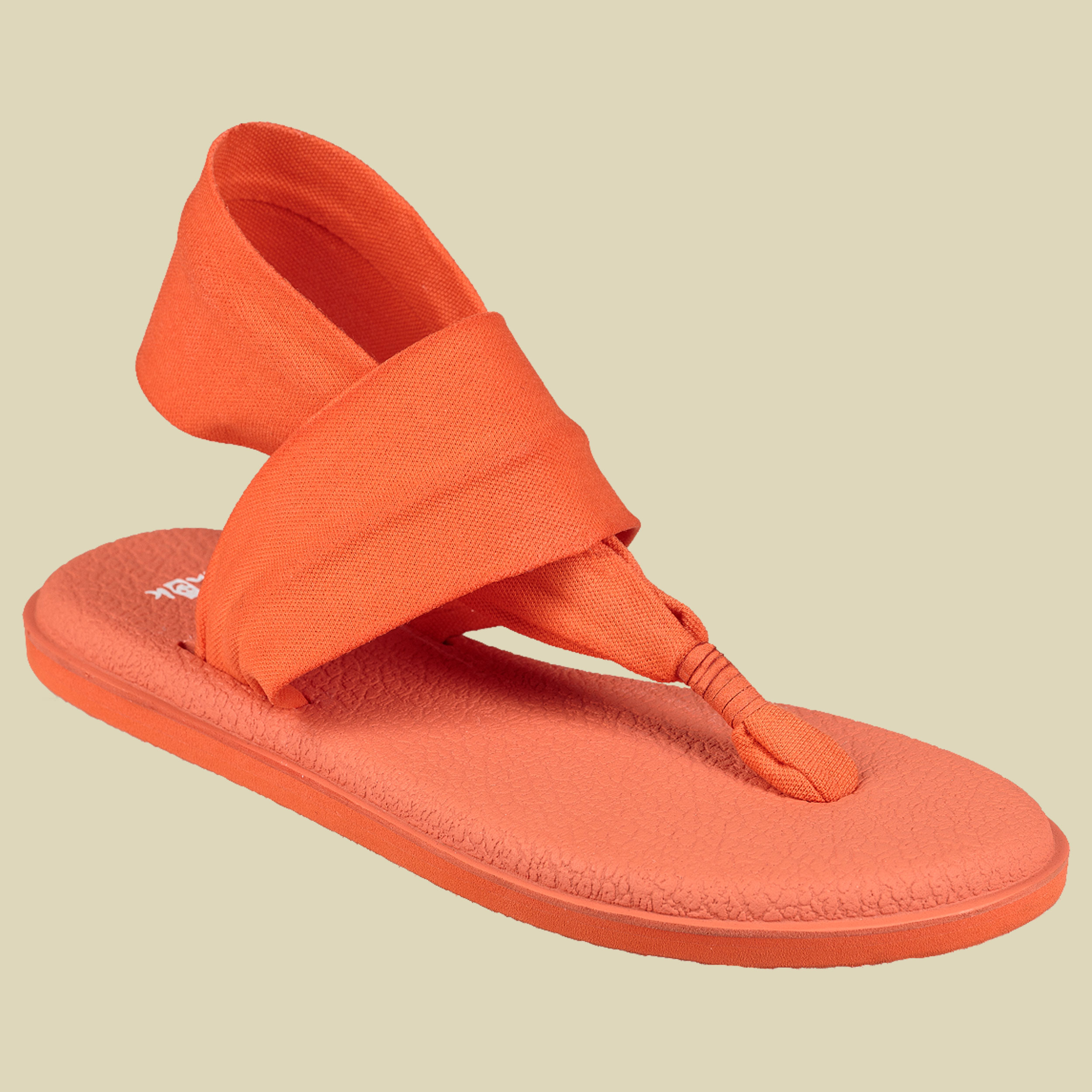 Sanuk Yoga Sling 2 Spectrum Women Damen Zehentrenner-Sandalen Größe UK 6 nasturtium