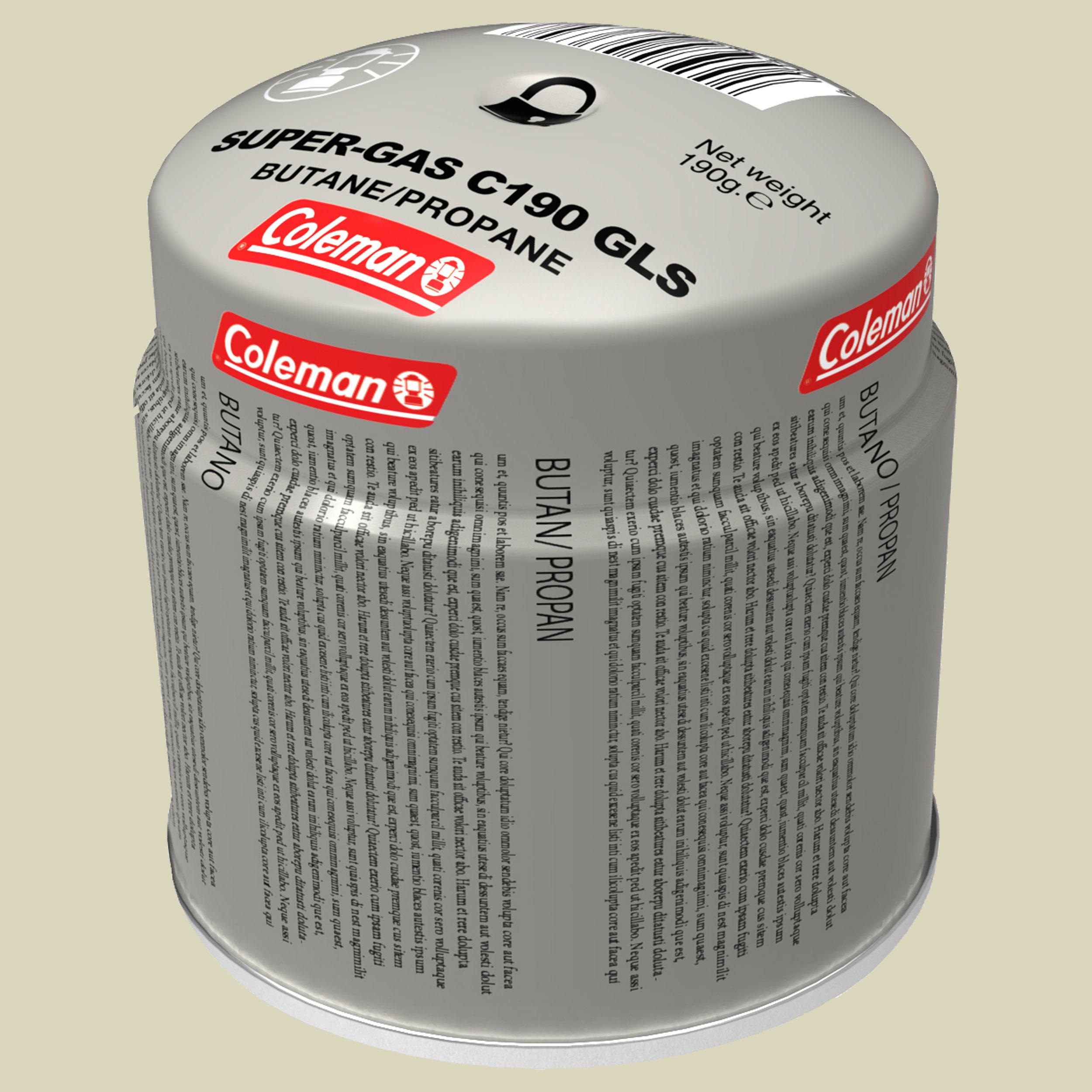 Coleman Stechgaskartusche GLS 190 Stechgaskartusche Volumen 314 ml
