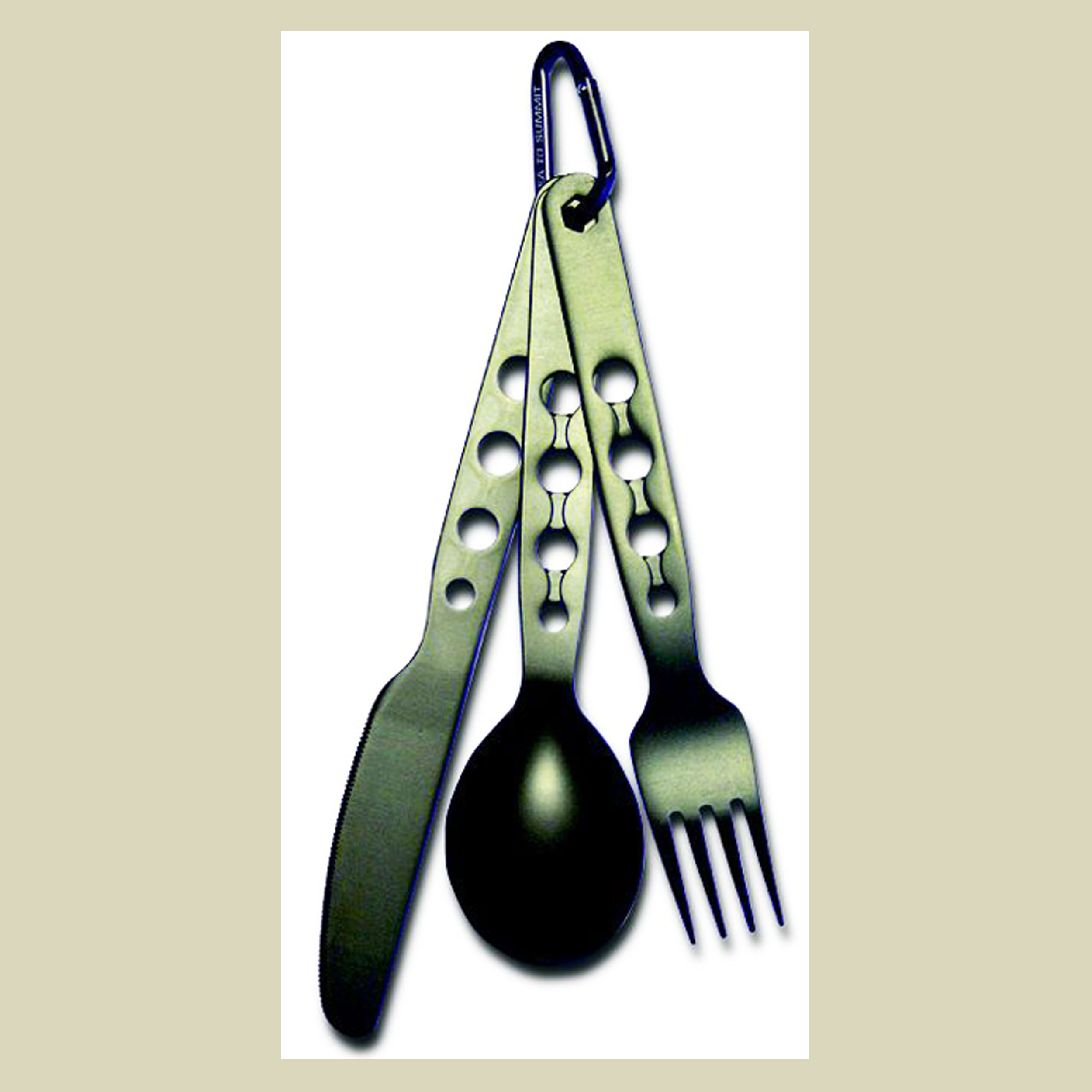 Sea to Summit Alphaset 3pc Cutlery Set Campingbesteck Messer-Gabel-Löffel-Set
