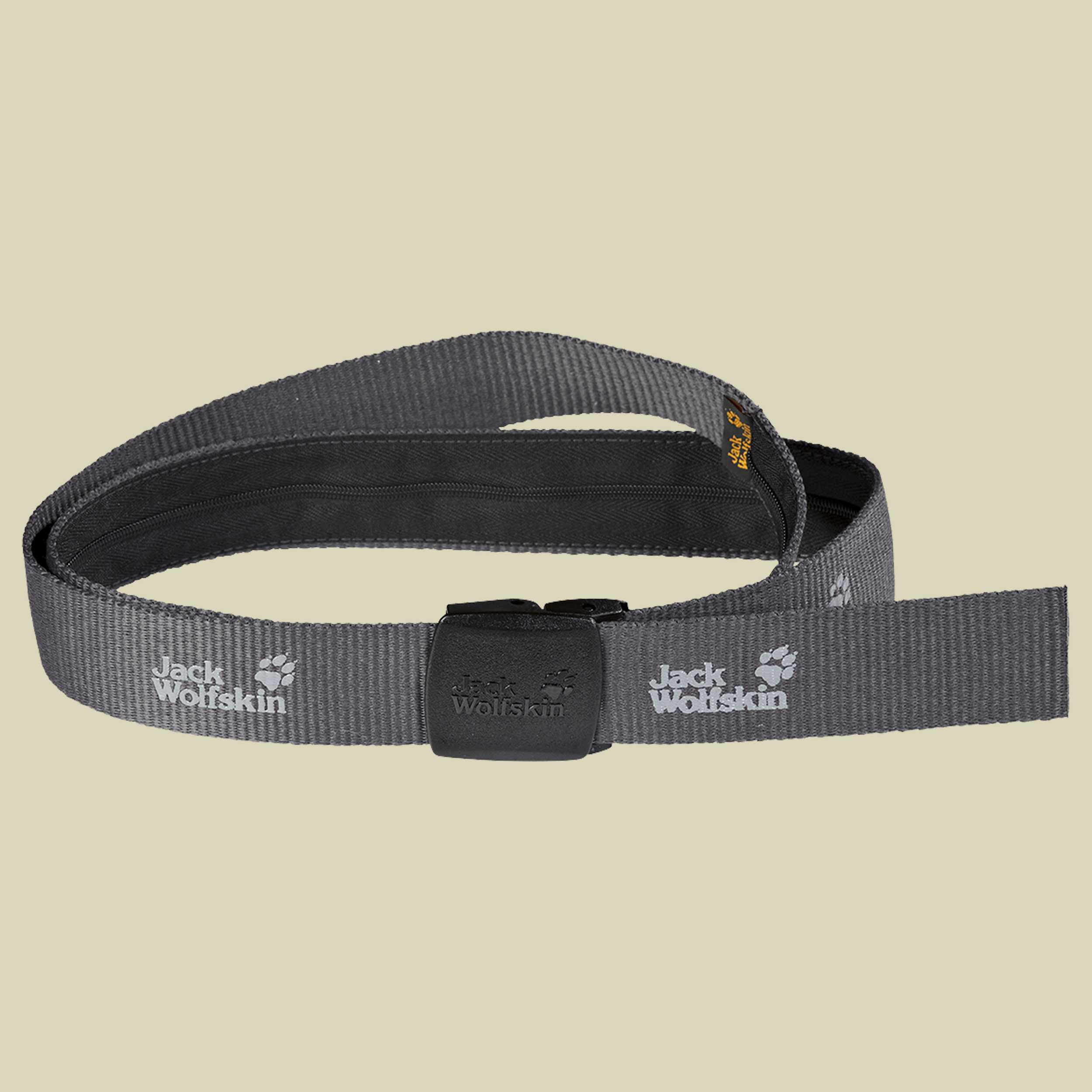 Jack Wolfskin Secret Belt Wide Gürtel Länge 125cm dark steel