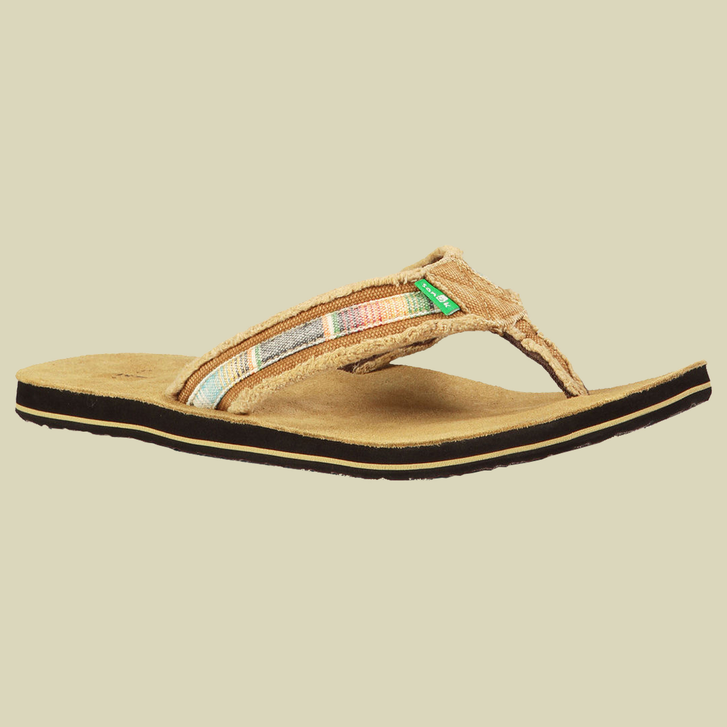 Sanuk Fraid SO Sandals Men Zehentrenner-Sandale Herren Größe UK 7 tan multi