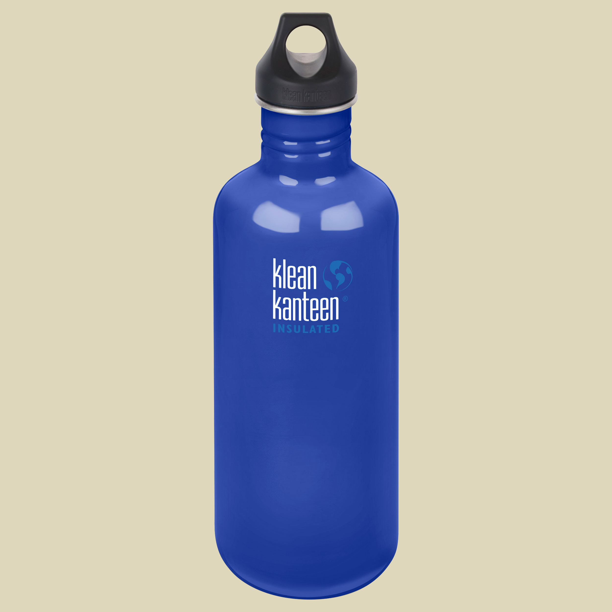 Klean Kanteen Classic mit Loop Cap Trinkflasche Volumen 1182 coastal waters