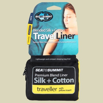 Sea to Summit Silk + Cotton Travel Liner Traveller (with Pillow Insert)