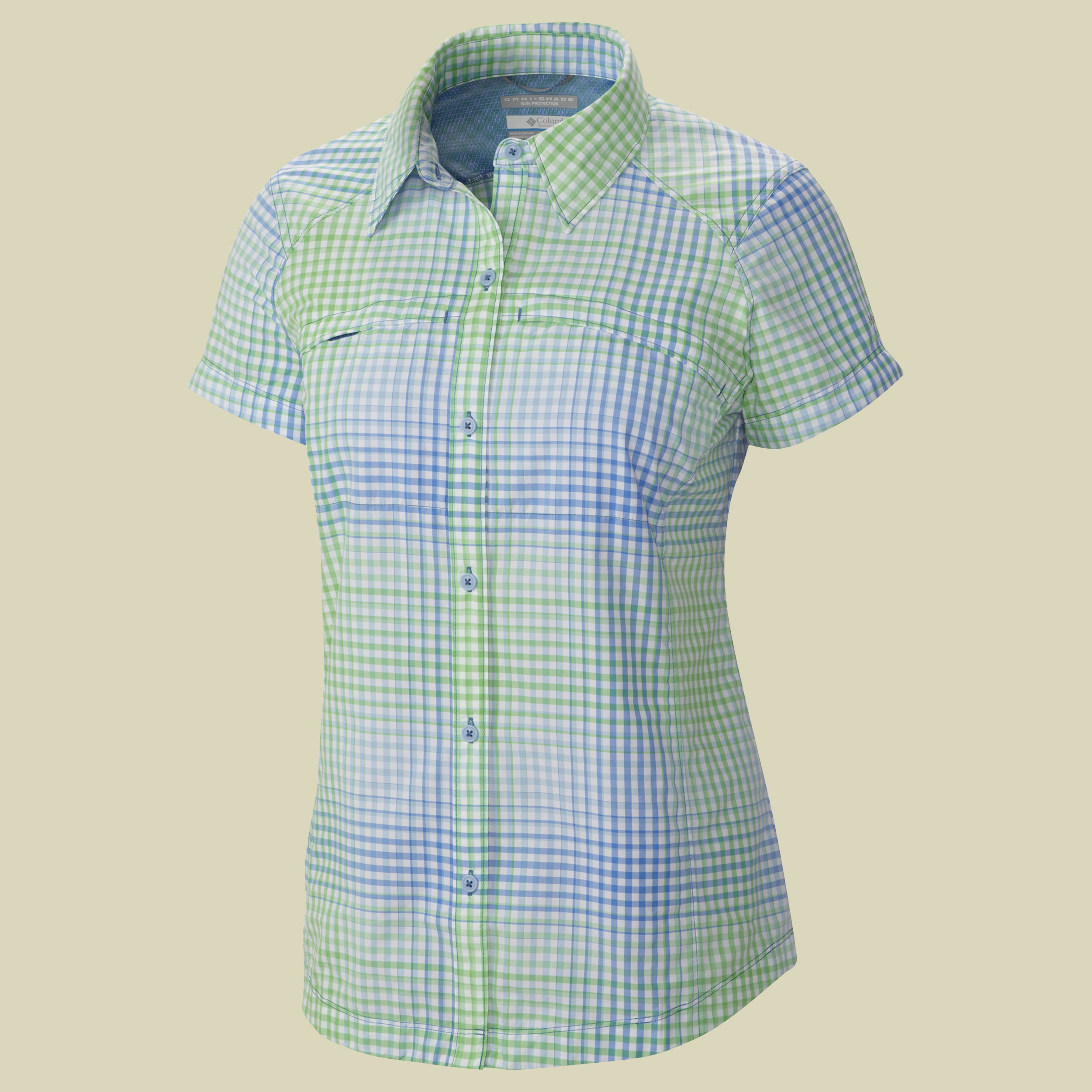 Silver Ridge Multi Plaid Short Sleeve Shirt Women