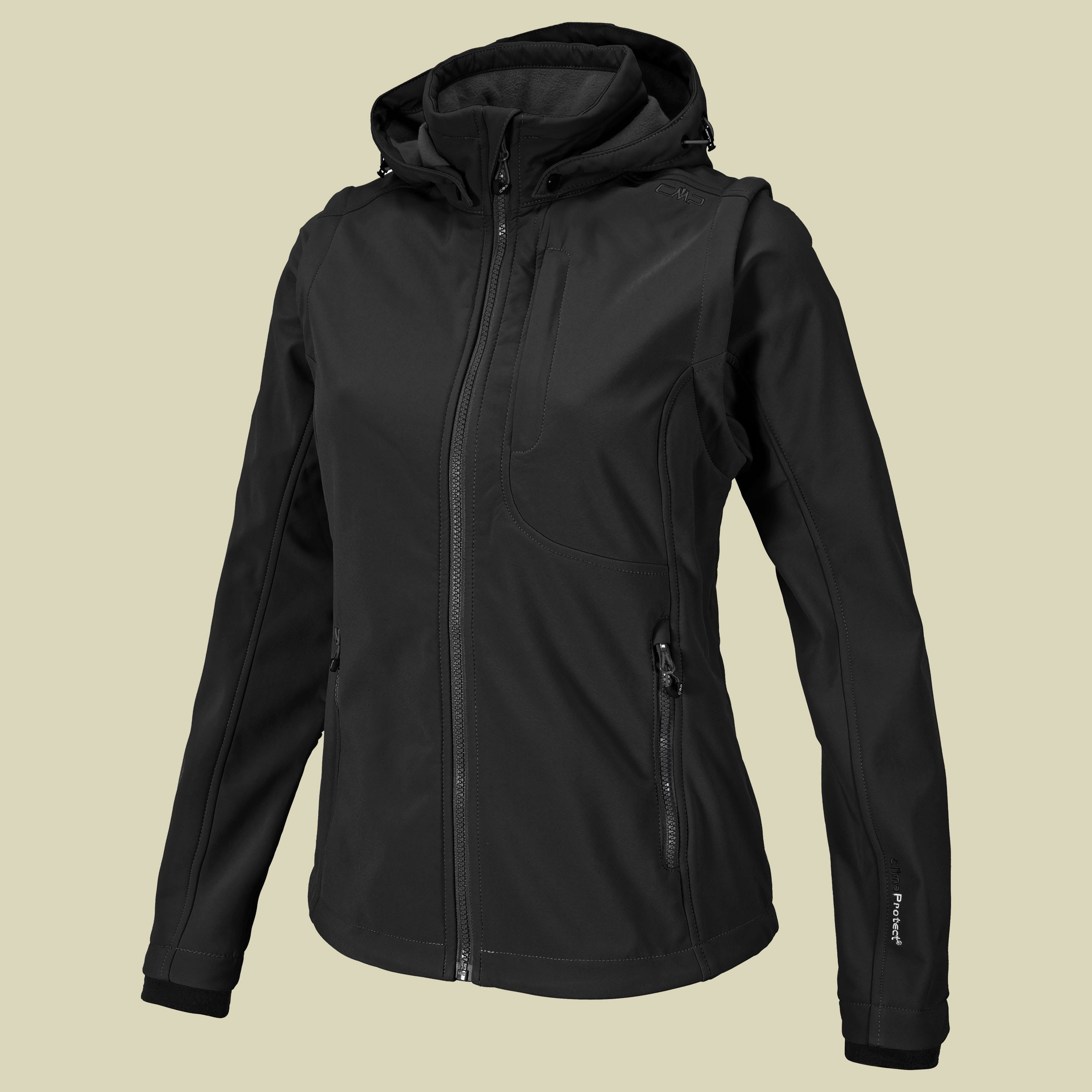 Woman Softshell Jacket Zip Off Sleeves 3A74326