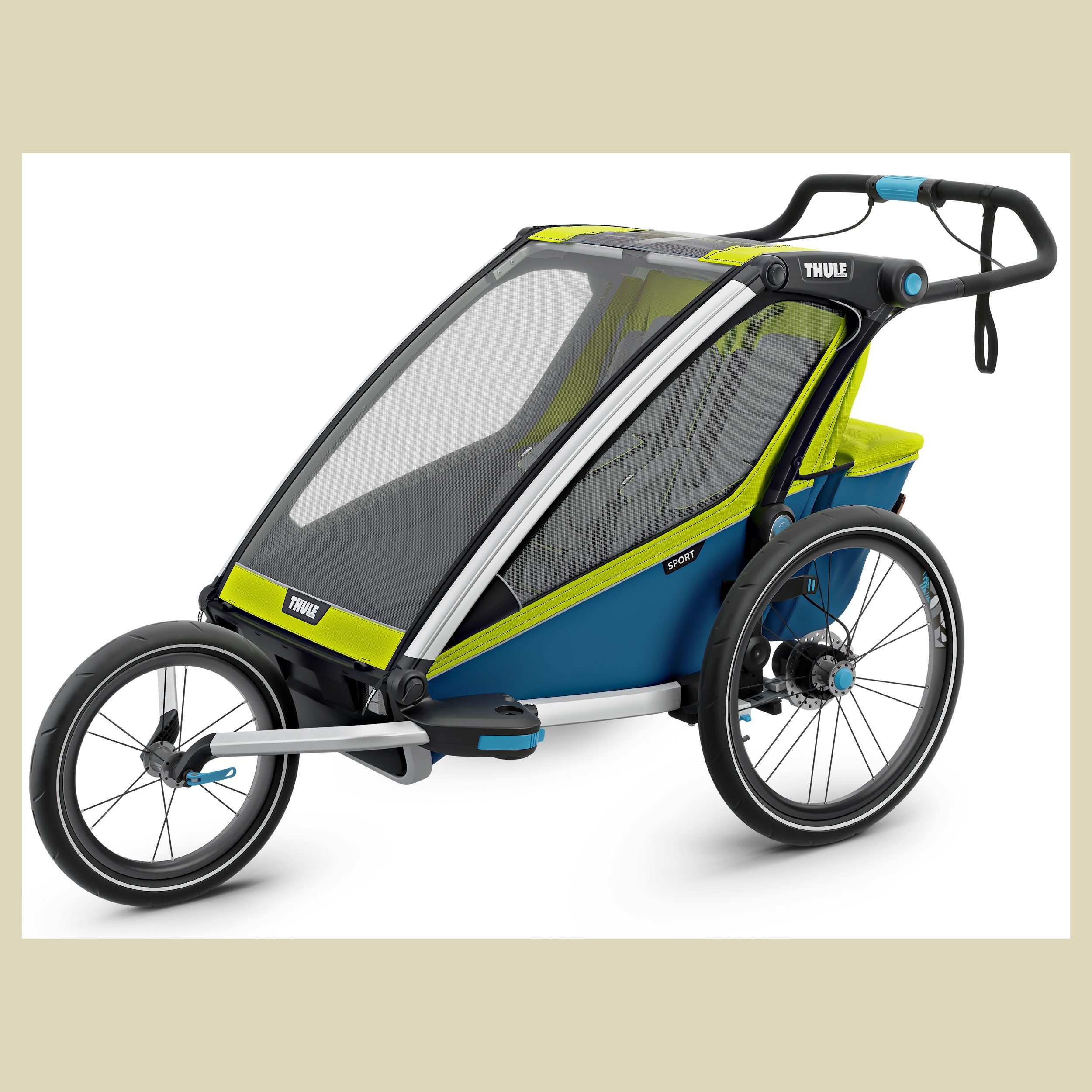 thule chariot sport 2 mit stvzo beleuchtung. Black Bedroom Furniture Sets. Home Design Ideas