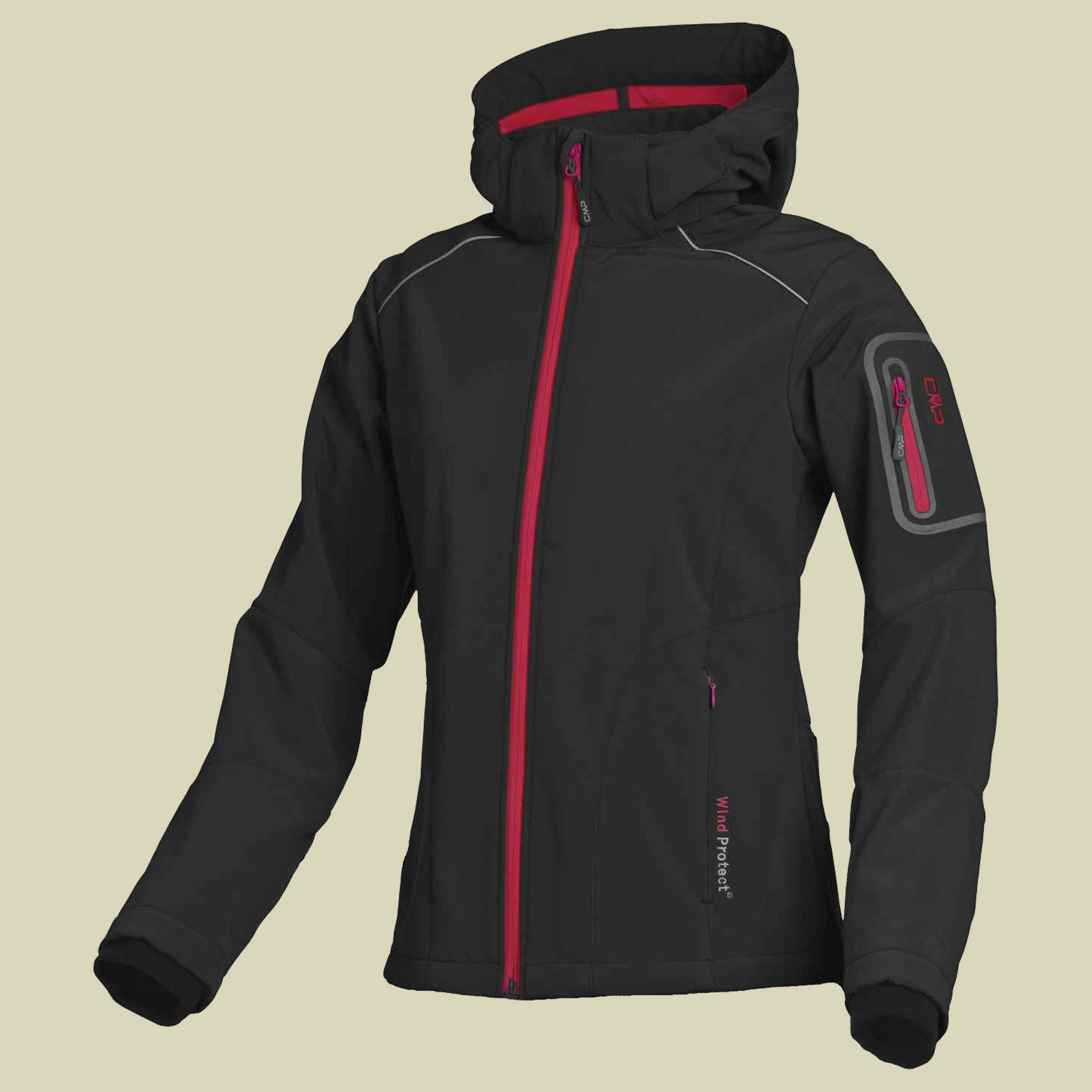 Woman Softshell Jacket Zip Hood CMP 3A05396