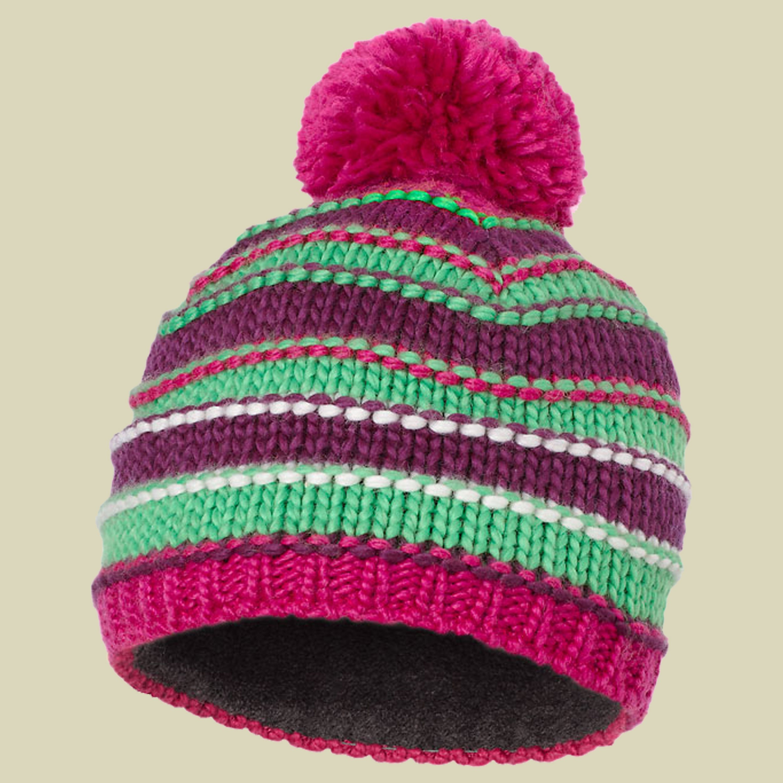 R 12 Striped Pompon Beanie
