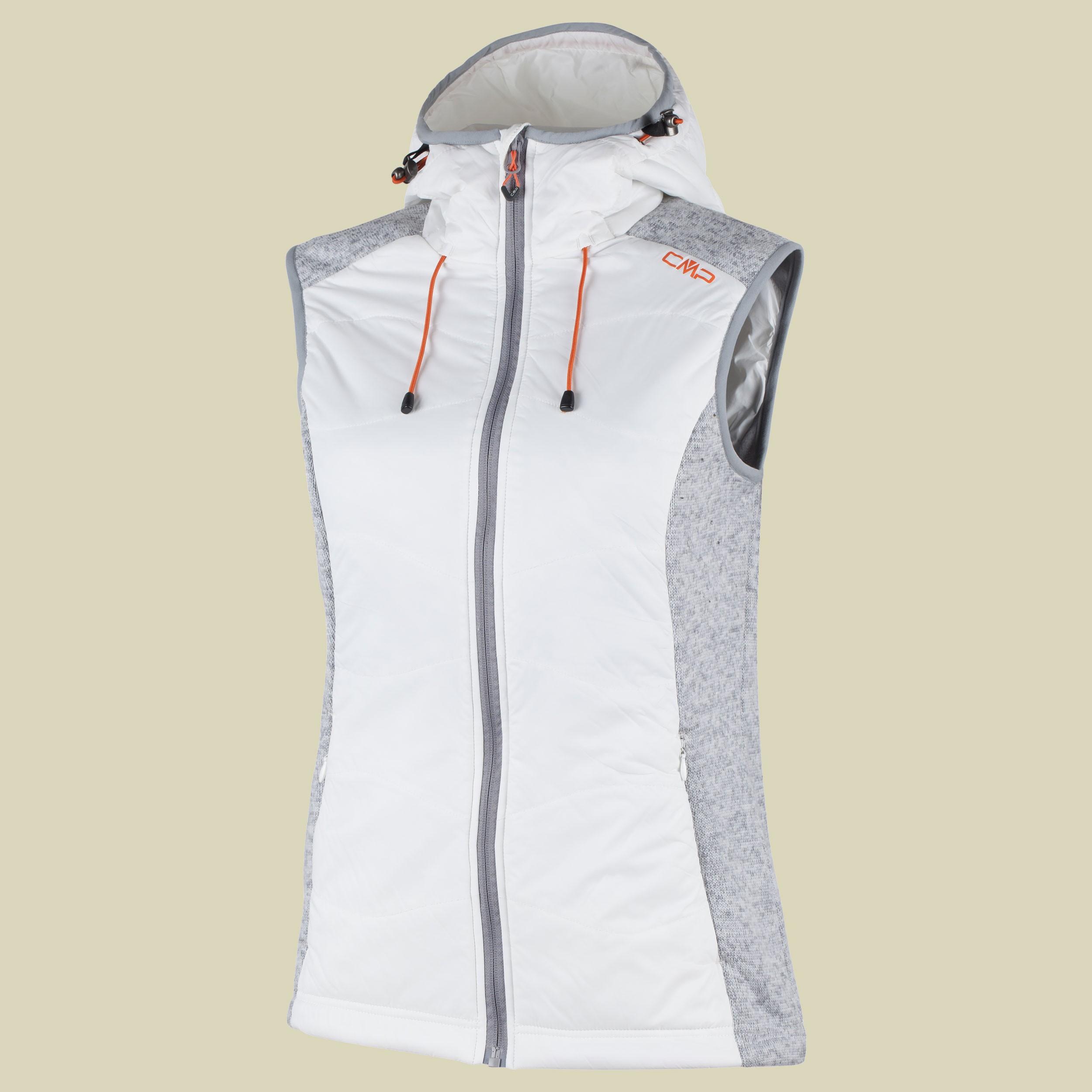 Woman Fleece Vest Hybrid Fix Hood 3H30266