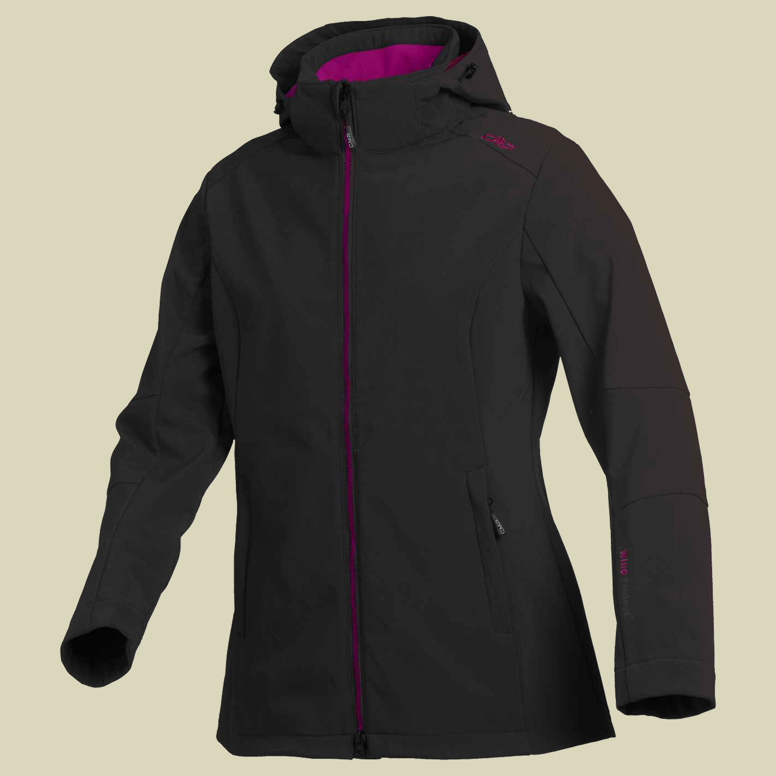 Woman Softshell Long Jacket Zip Hood CMP 3A22226