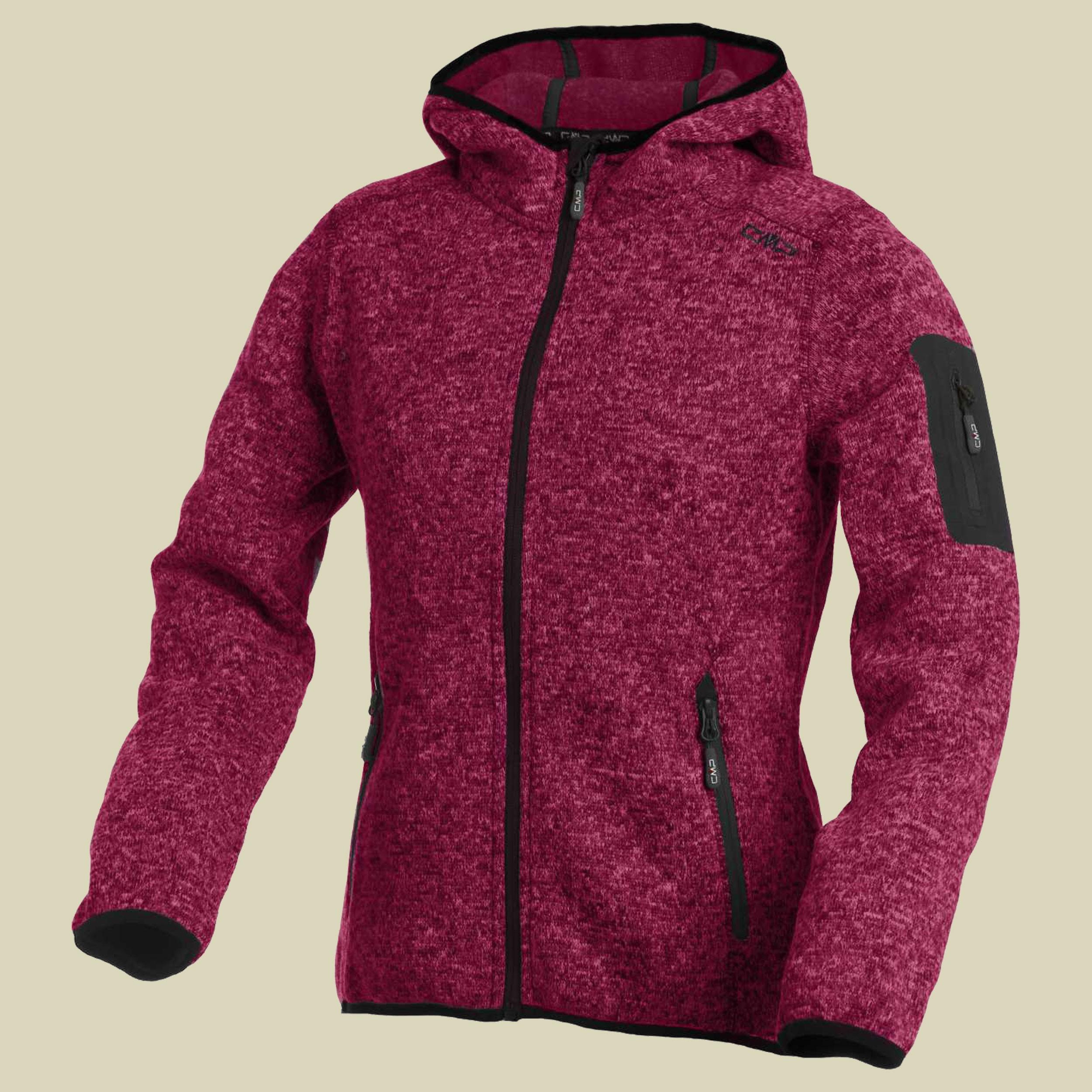 ea977df2feb2 Woman Knitted Fleece Jacket Fix Hood CMP 3H19826. -53%.  campagnolo woman fleece jacket fix hood 3H19826 355F scarlet bianco fallback