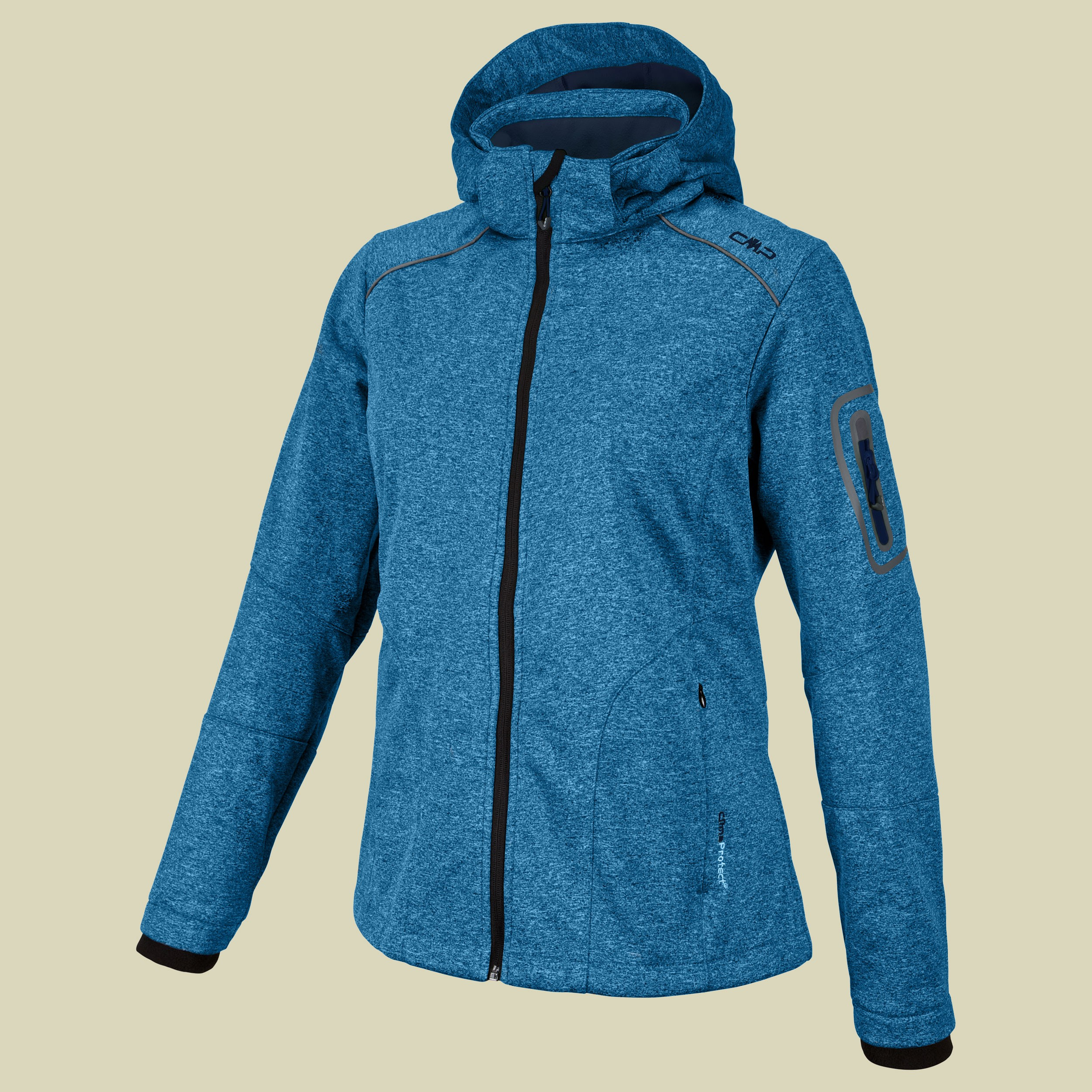 Woman Softshell Jacket Zip Hood CMP 3A05396M
