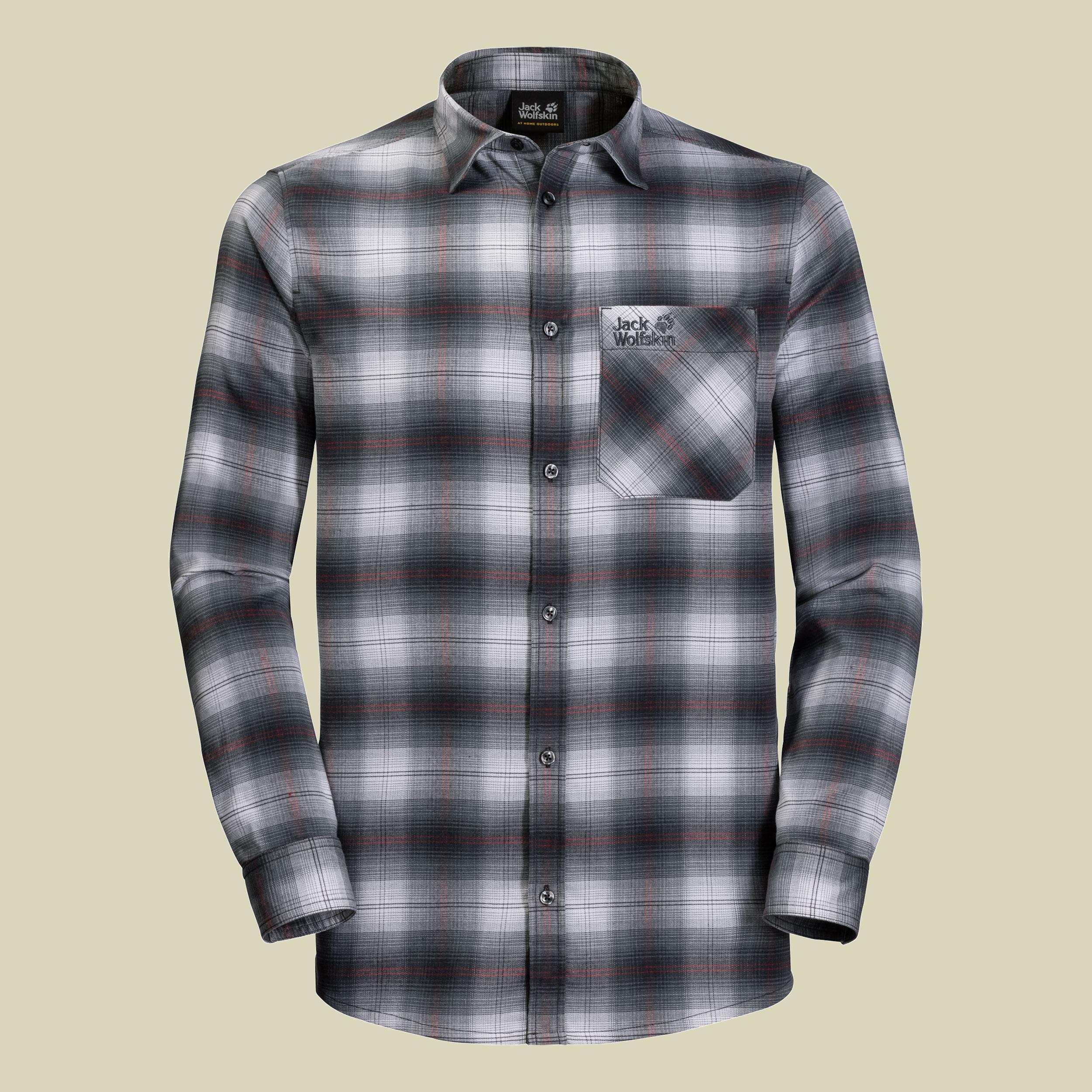Jack Wolfskin Light Valley Shirt Men Herren Flanellhemd Größe M ebony checks