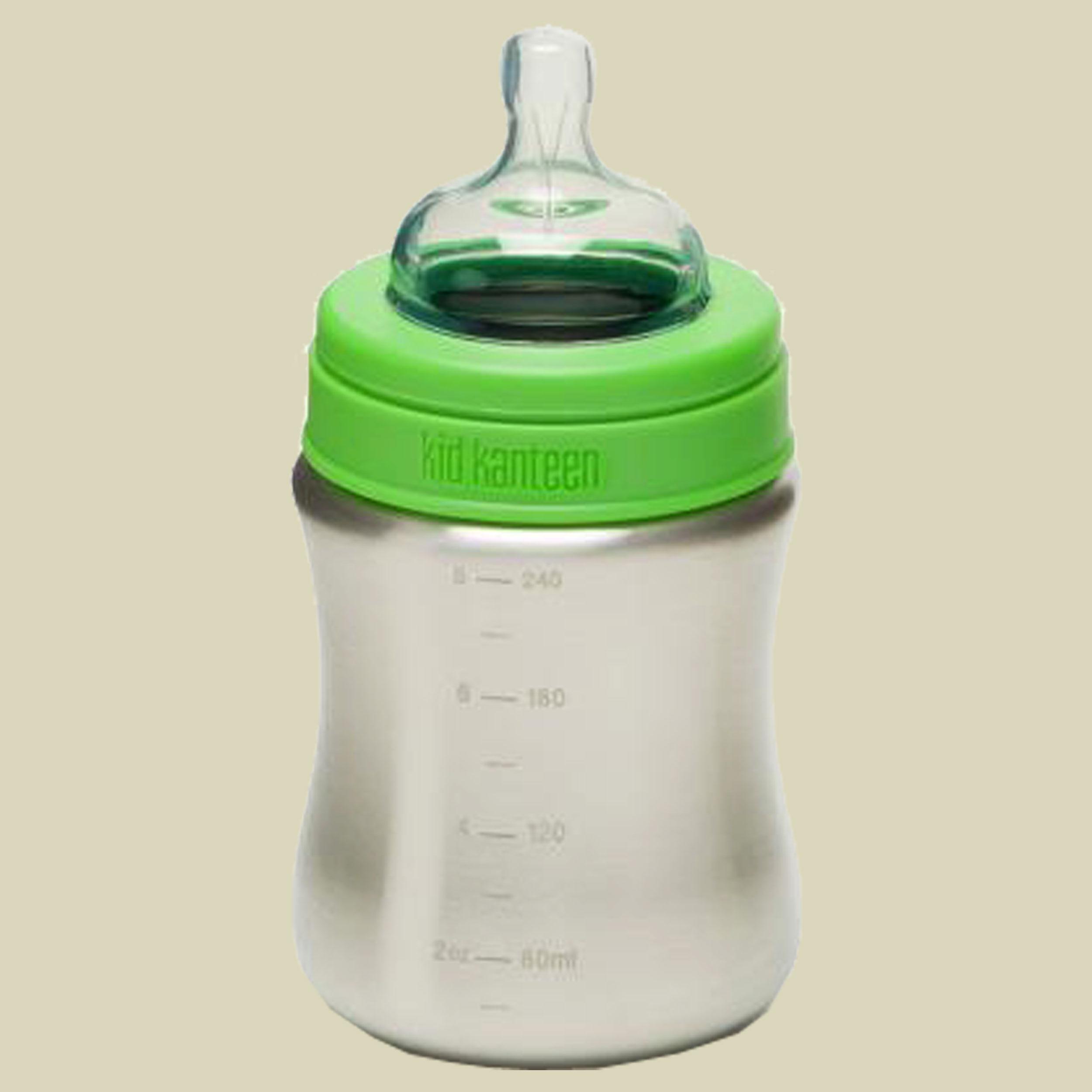 Klean Kanteen Baby Bottle 266 ml medium flow Baby Trinkflasche Volumen 266 ml Edelstahl