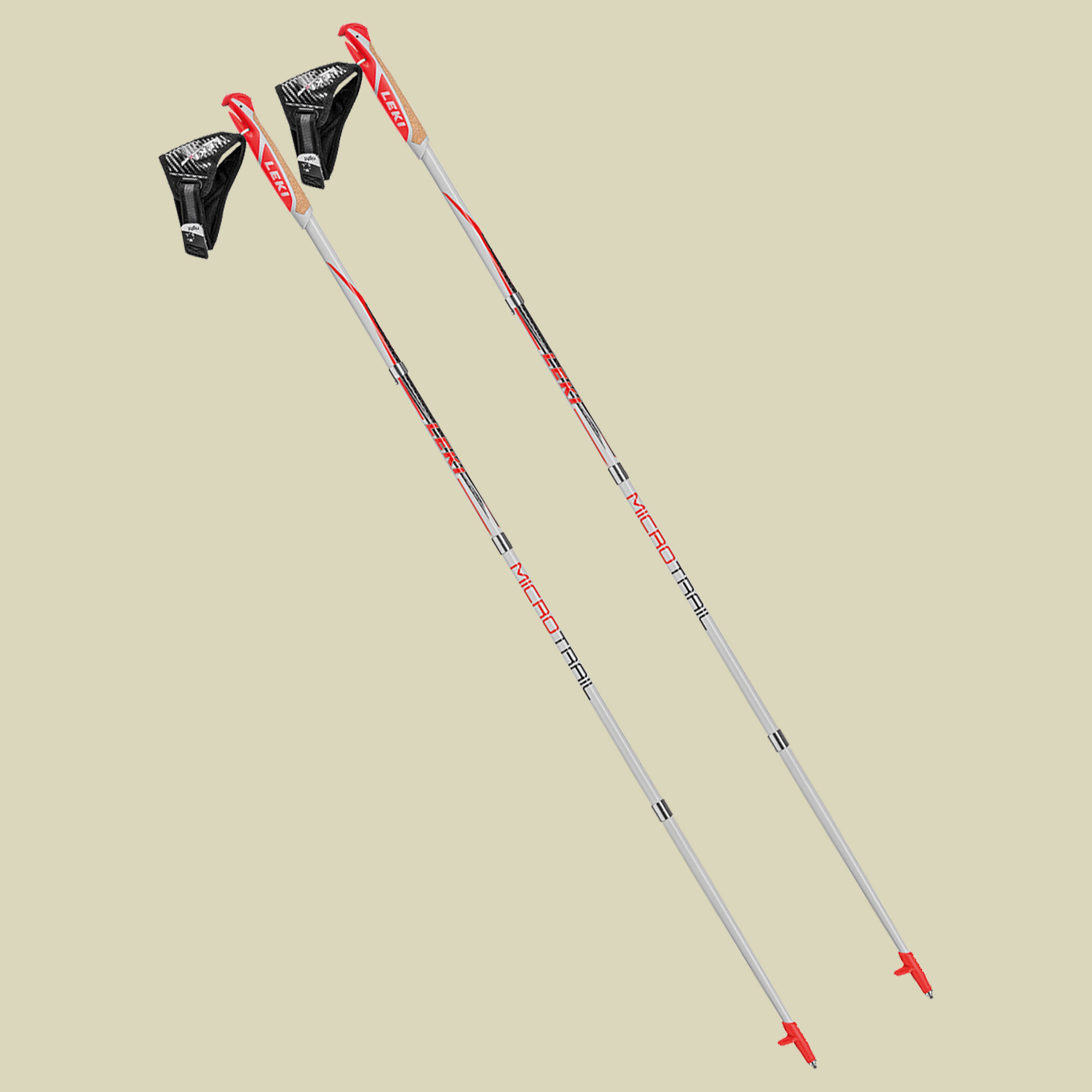 Leki Micro Trail Wander/ Trekkingstock Länge 130 cm grau-rot
