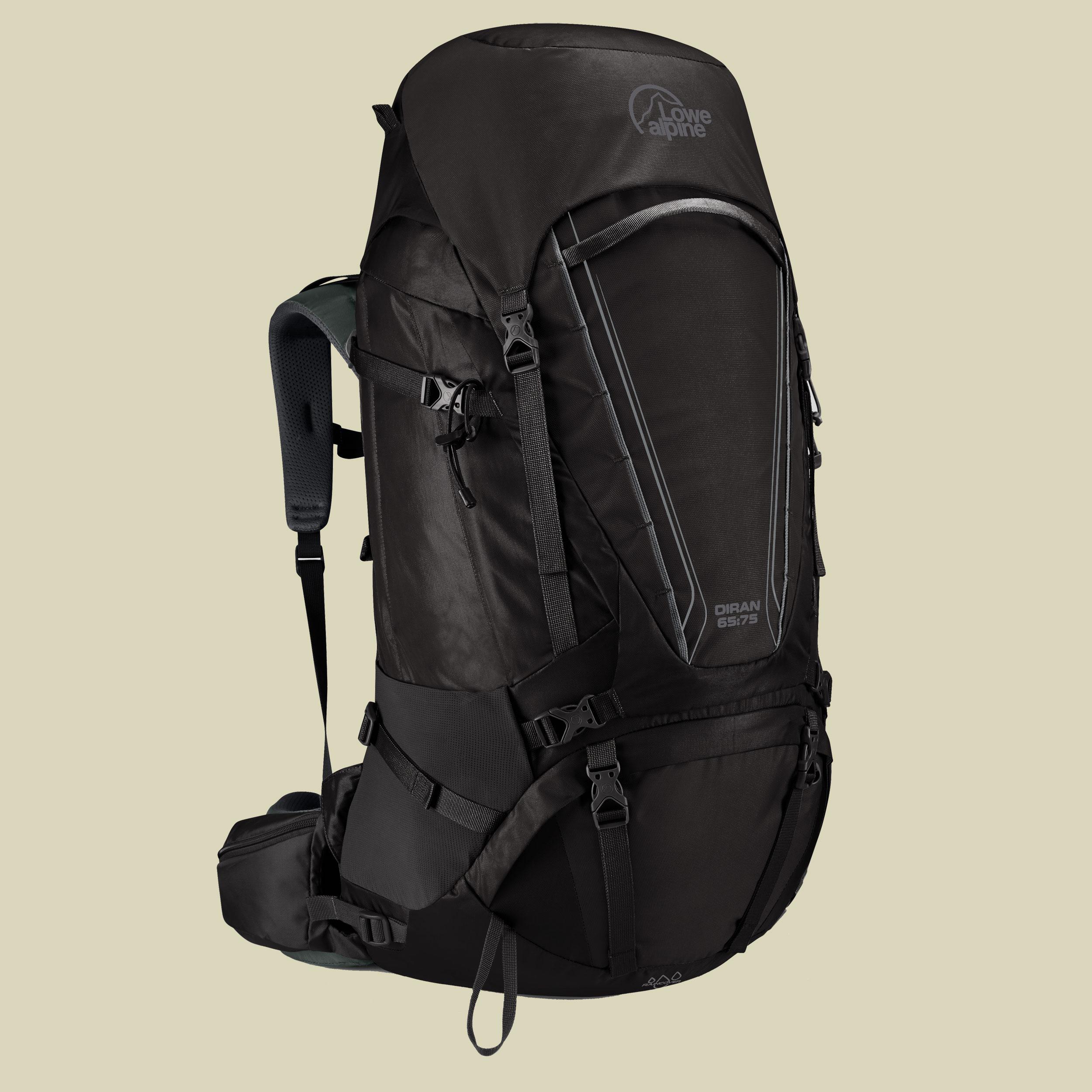 Lowe Alpine Diran 65:75 Trekkingrucksack Volumen 65 L + 10 L (Rückenlänge L/XL) anthracite/grey