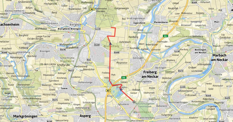 Nordic Walking Strecke Monrepos