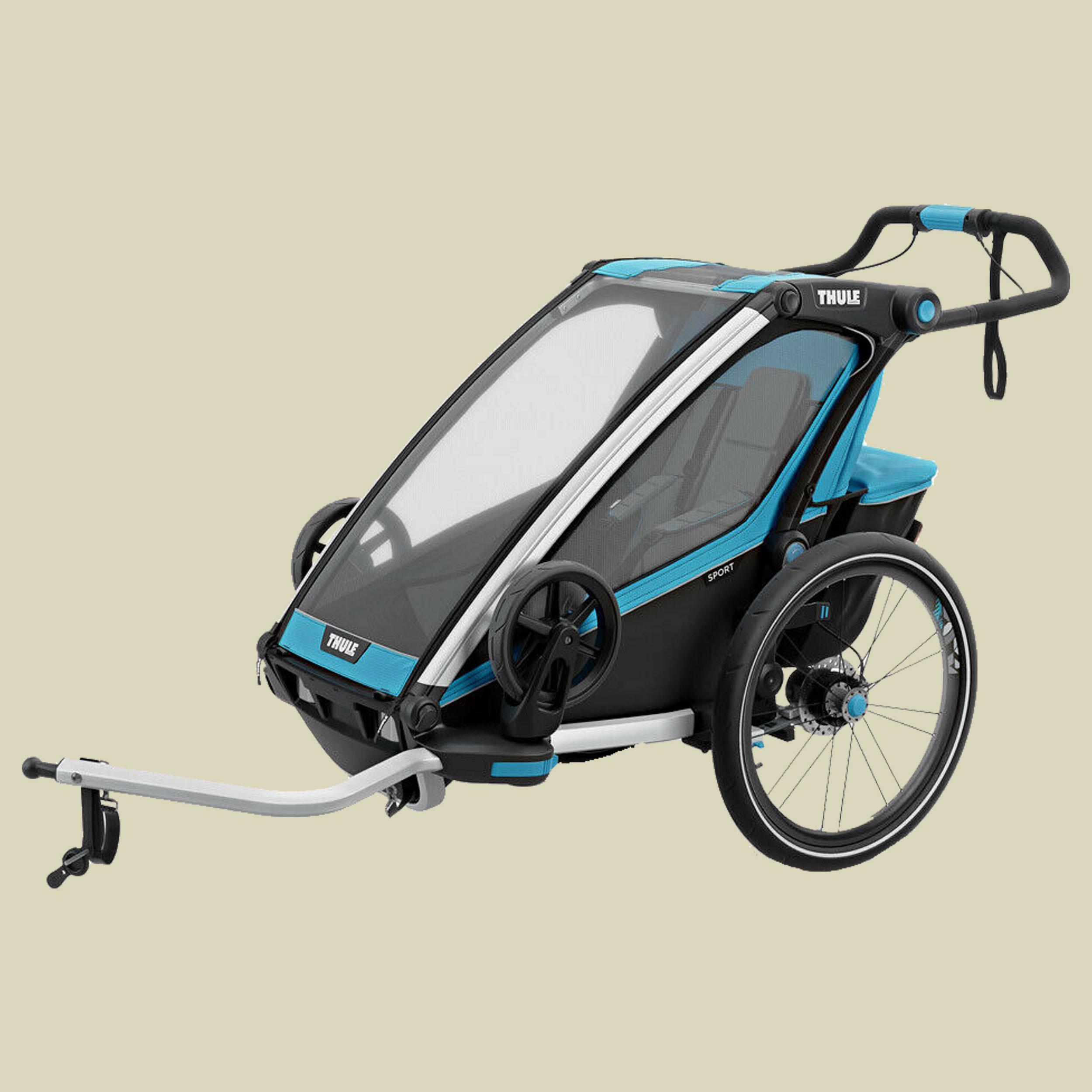 Thule, Chariot Sport 1 mit StVZO-Beleuchtung, thule blue/black, Kindertransporter,