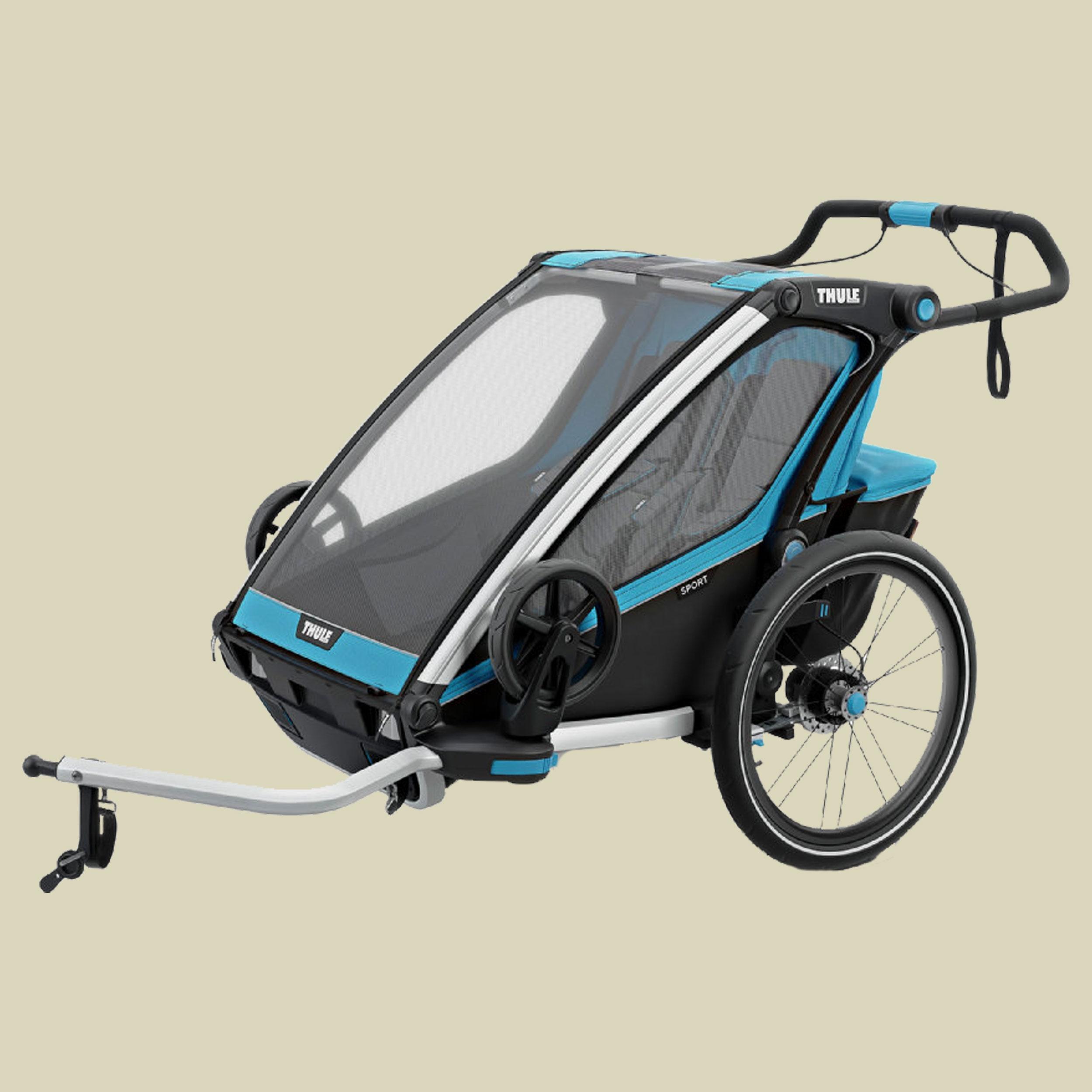 Thule, Chariot Sport 2 mit StVZO-Beleuchtung, thule blue/black, Kindertransporter,