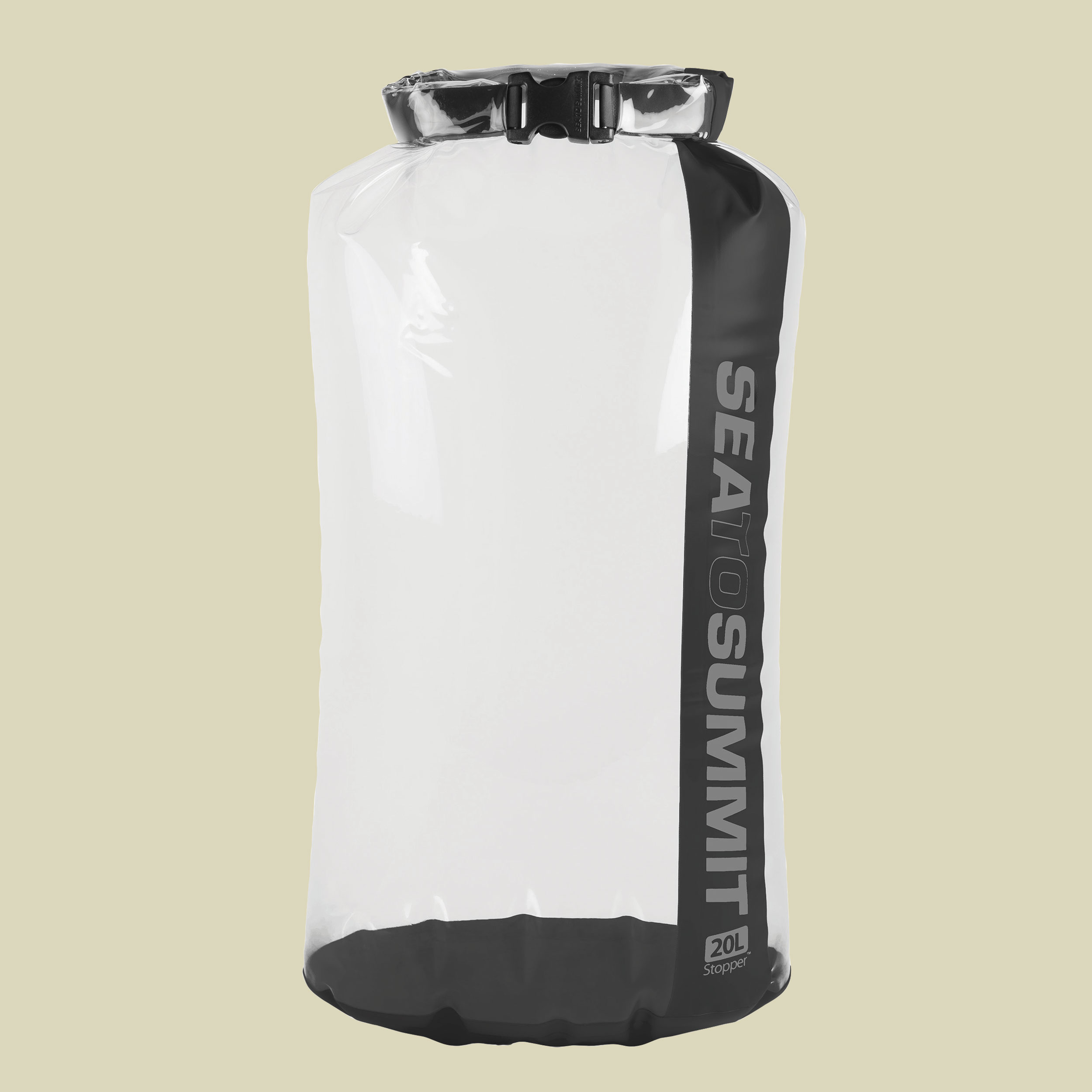 Image of Sea to Summit Stopper Clear Dry Bag Packsack Gr 20 l weiß/schwarz
