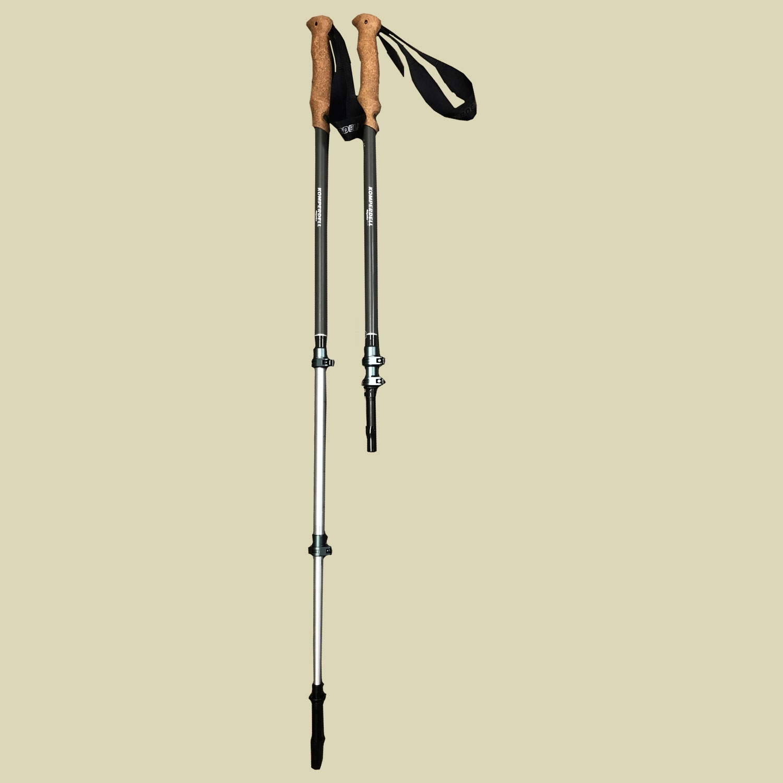 Komperdell, Ridgehiker Cork Power Lock, max. Länge: 140 cm, Wanderstock, Farbe: grau