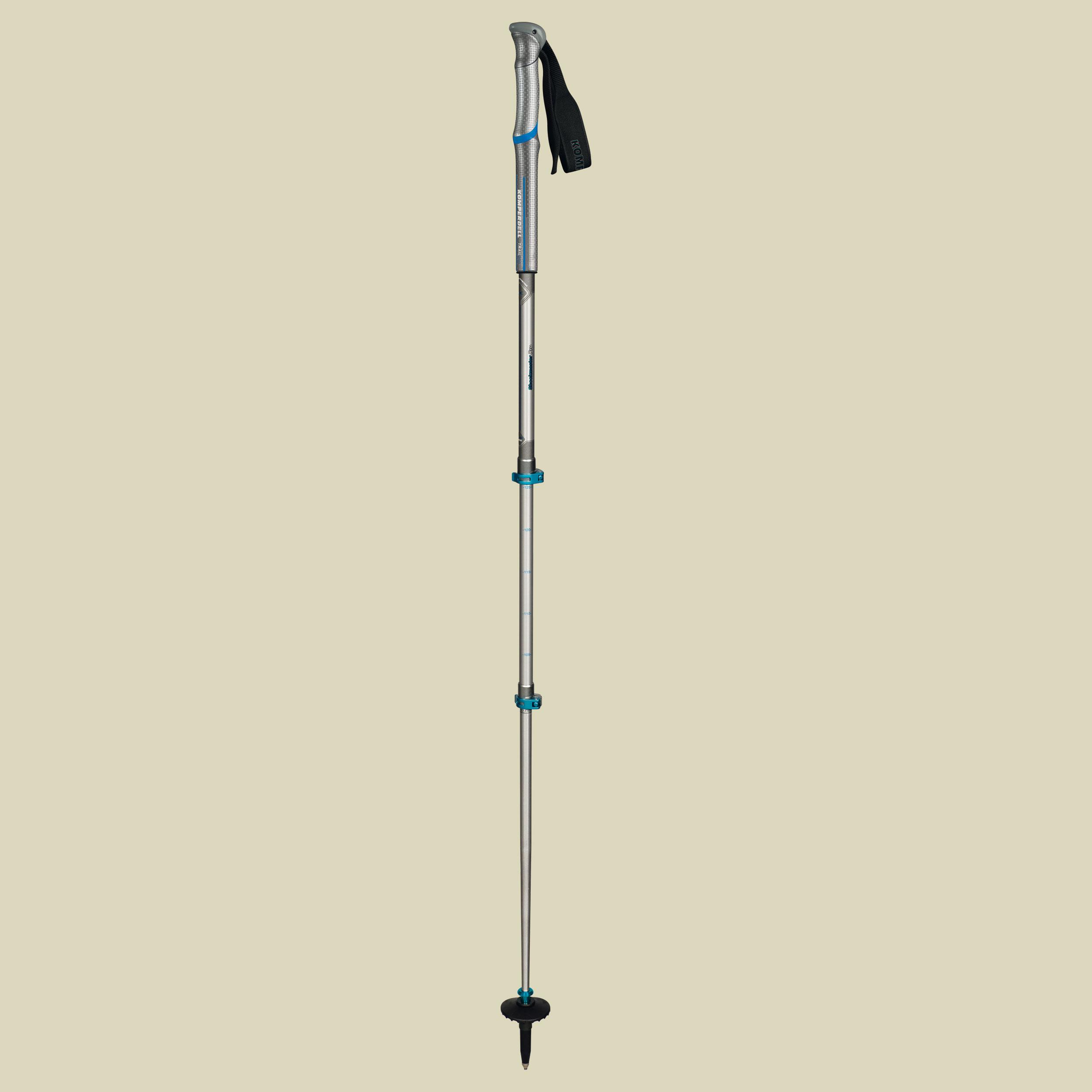 Komperdell, Shockmaster Pro Powerlock, Trekking Touren Stock, Farbe: silver/blue