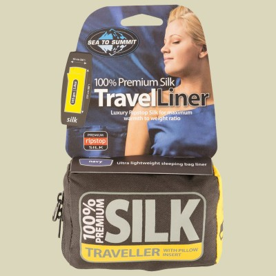 Sea to Summit Silk Stretch Liner - Traveller (with Pillow Slip)