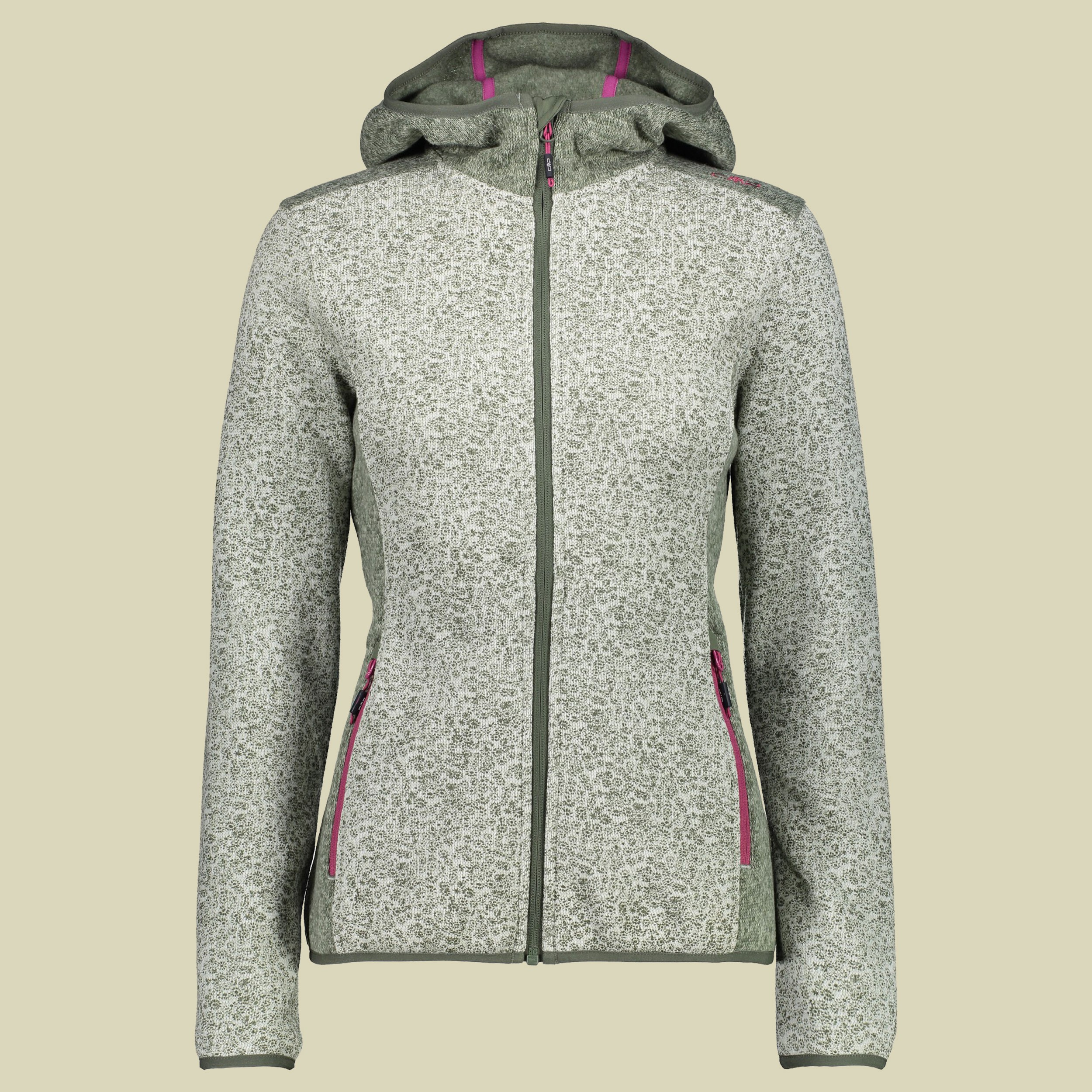 Woman Fix Hood Jacket Knitted 38H7026