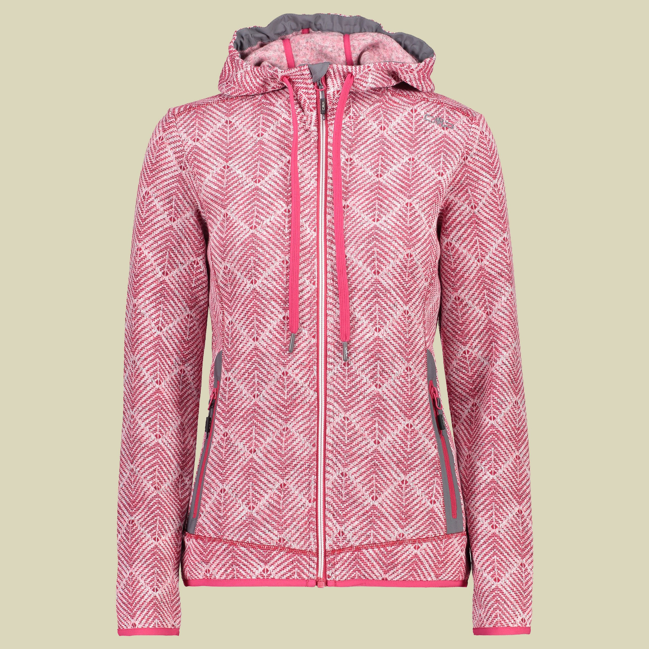 Woman Jacket Fix Hood Knitted 39H0976