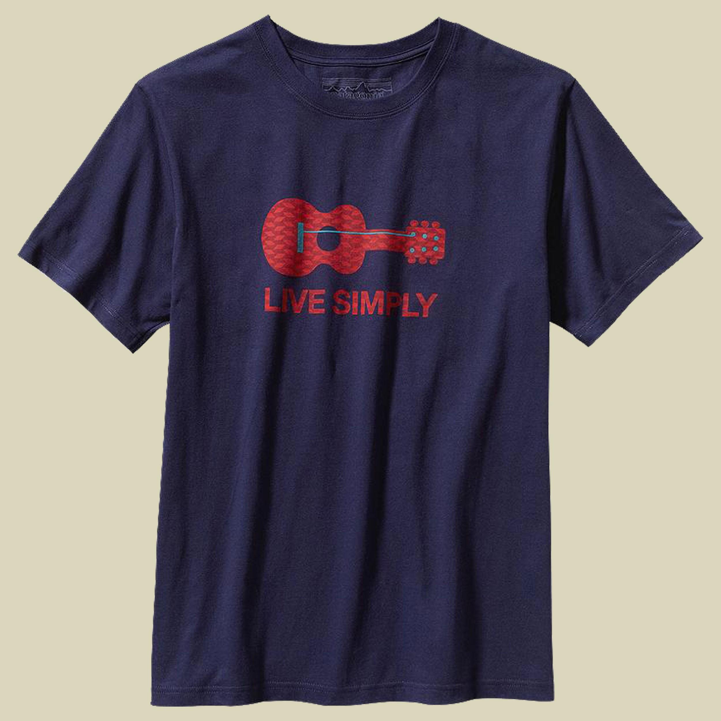 Live Simply Guitar T-Shirt Men