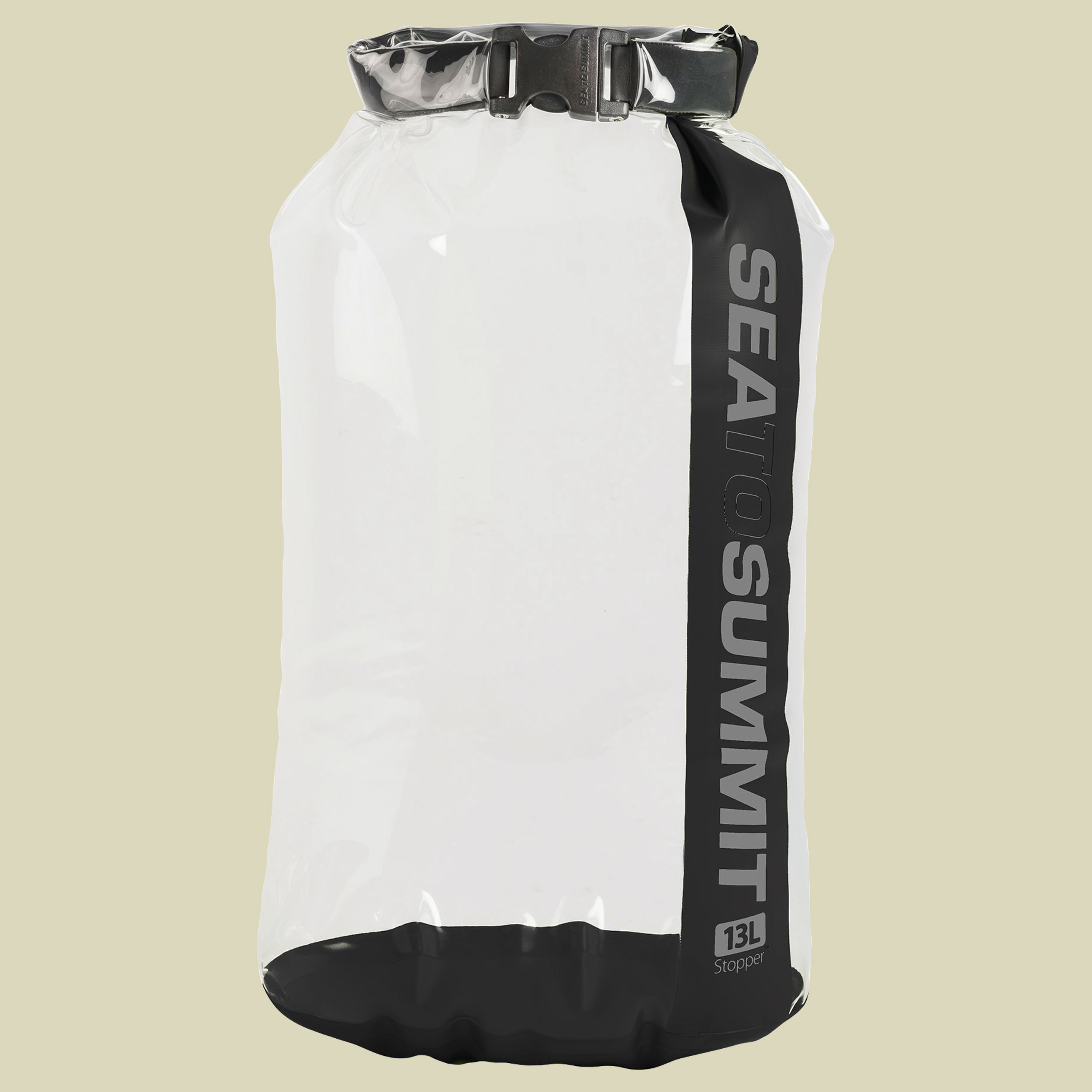 Image of Sea to Summit Stopper Clear Dry Bag Packsack Gr 13 l weiß/schwarz