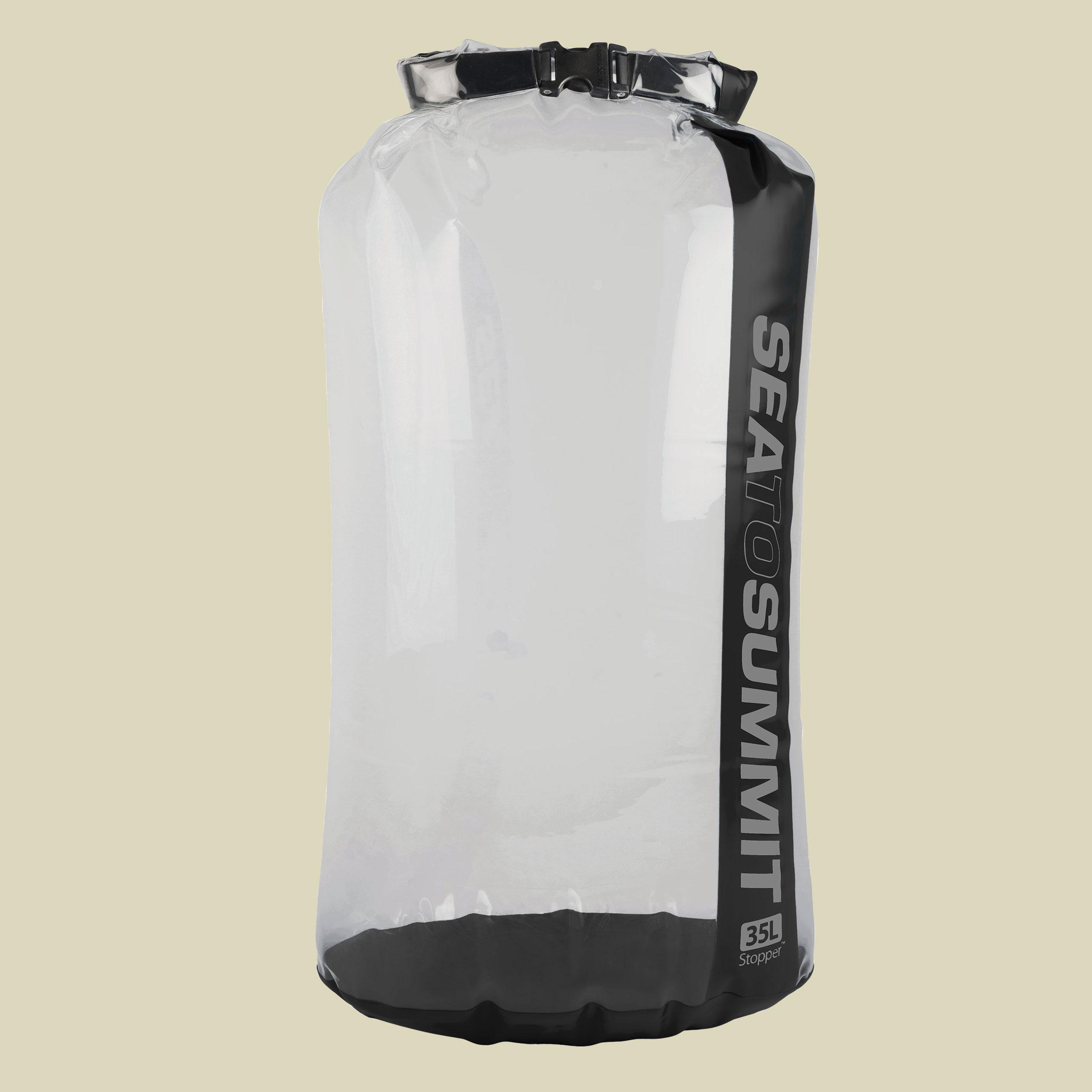 Image of Sea to Summit Stopper Clear Dry Bag Packsack Gr 35 l grau/schwarz