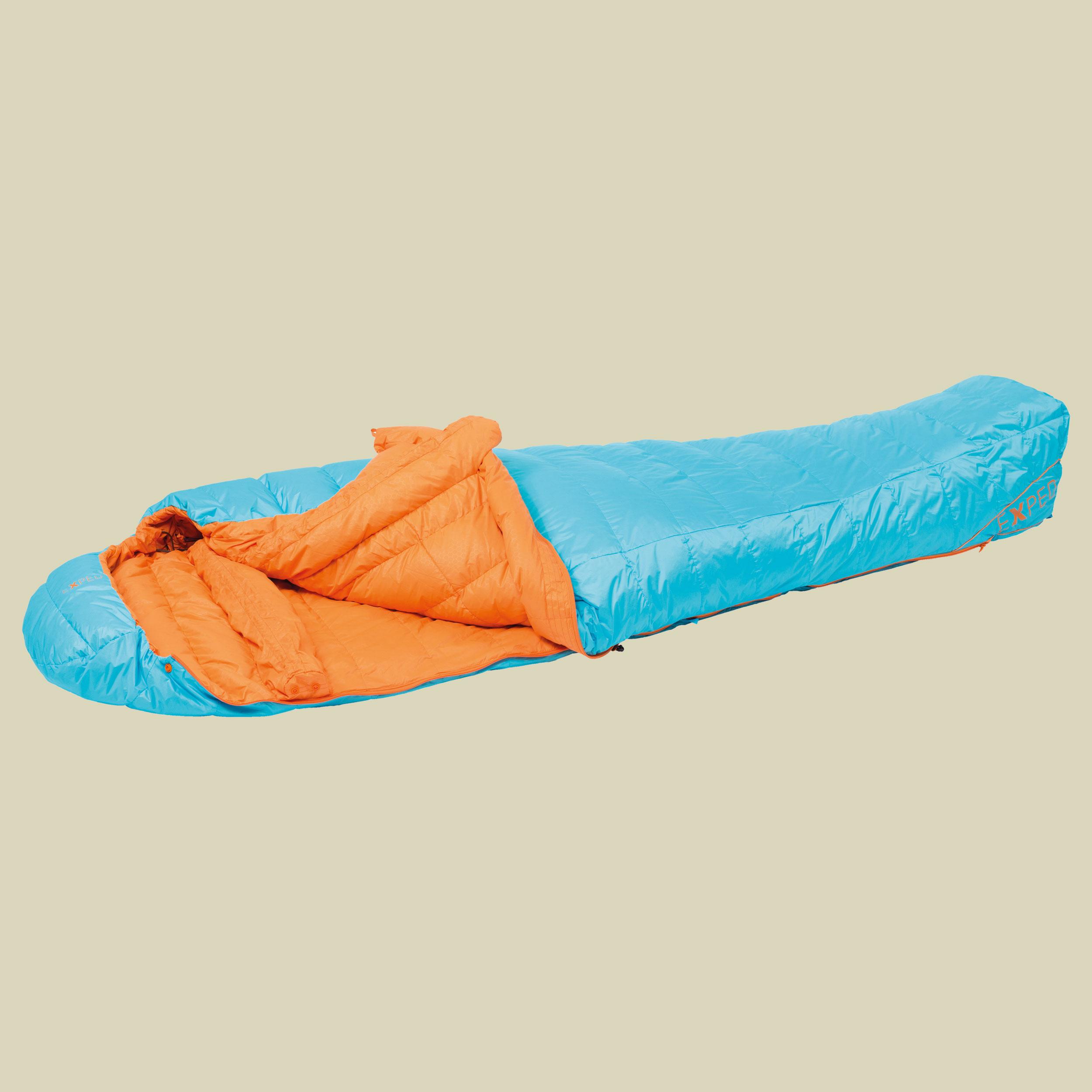 Image of Exped WinterLite -6° Daunenschlafsack Gr L blau/orange