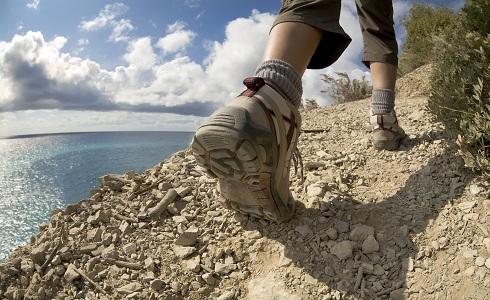 In Outdoor-Schuhen